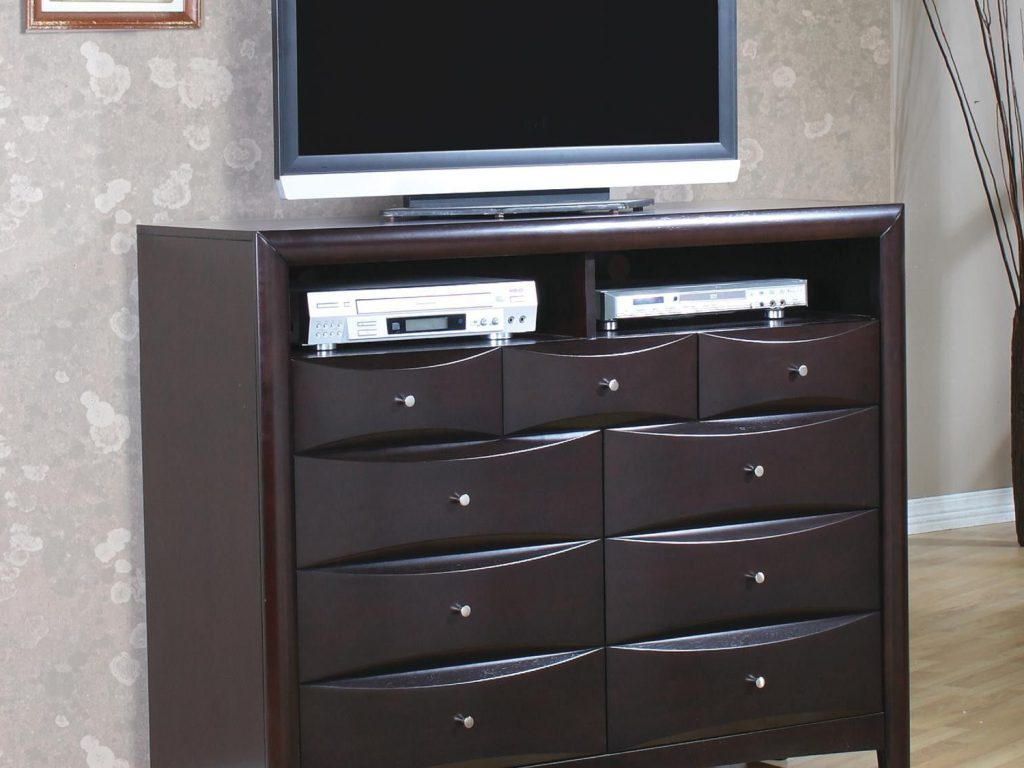 Well Known Brown Wooden Tv Stand For Bedroom On The Floor Unique Dresser Top Intended For Unique Tv Stands (View 18 of 20)