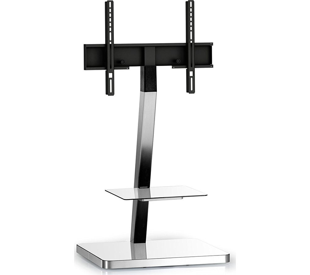 Well Known Buy Sonorous Pl2710 Wht Slv 600 Mm Tv Stand With Bracket – White Inside Tv Stands With Bracket (View 7 of 20)