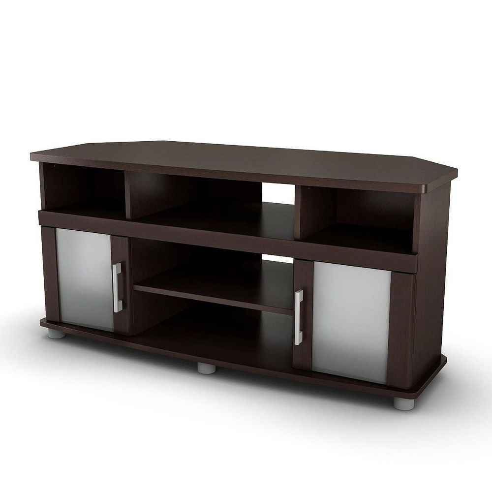 Well Known Cheap Corner Tv Stands For Flat Screen Pertaining To Corner Tv Stand Flat Screen Media Console Wood Entertainment Center (View 20 of 20)