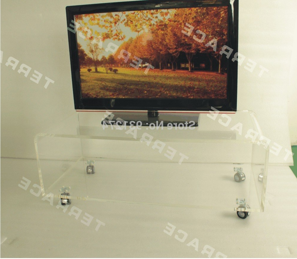 Well Known Clear Acrylic Tv Stand On Wheels,lucite Rolling Occasional Side With Acrylic Tv Stands (View 19 of 20)