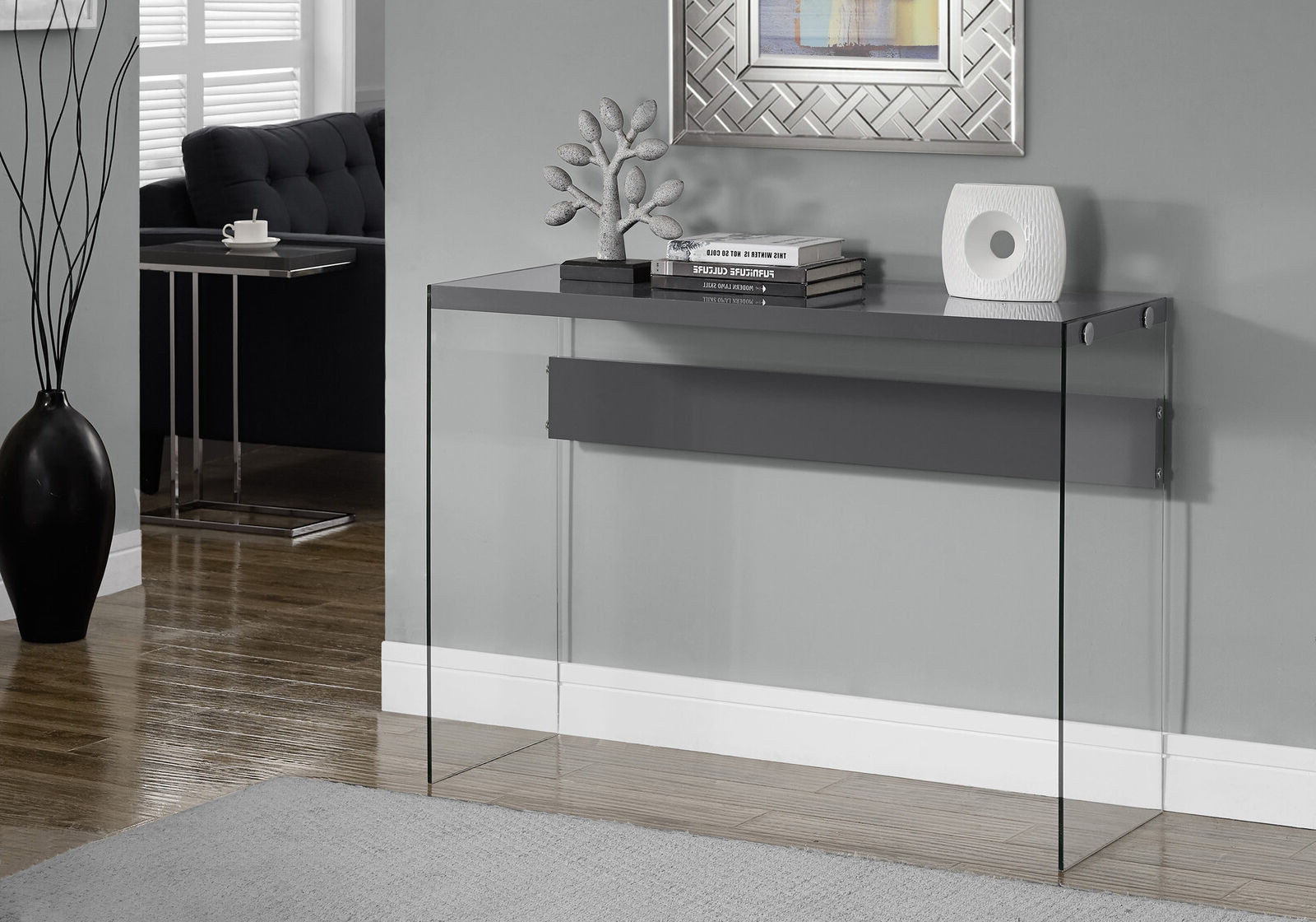 Well Known Console Tables For Entryway Behind Sofa Storage Glass Small Writing In Ventana Display Console Tables (Gallery 20 of 20)