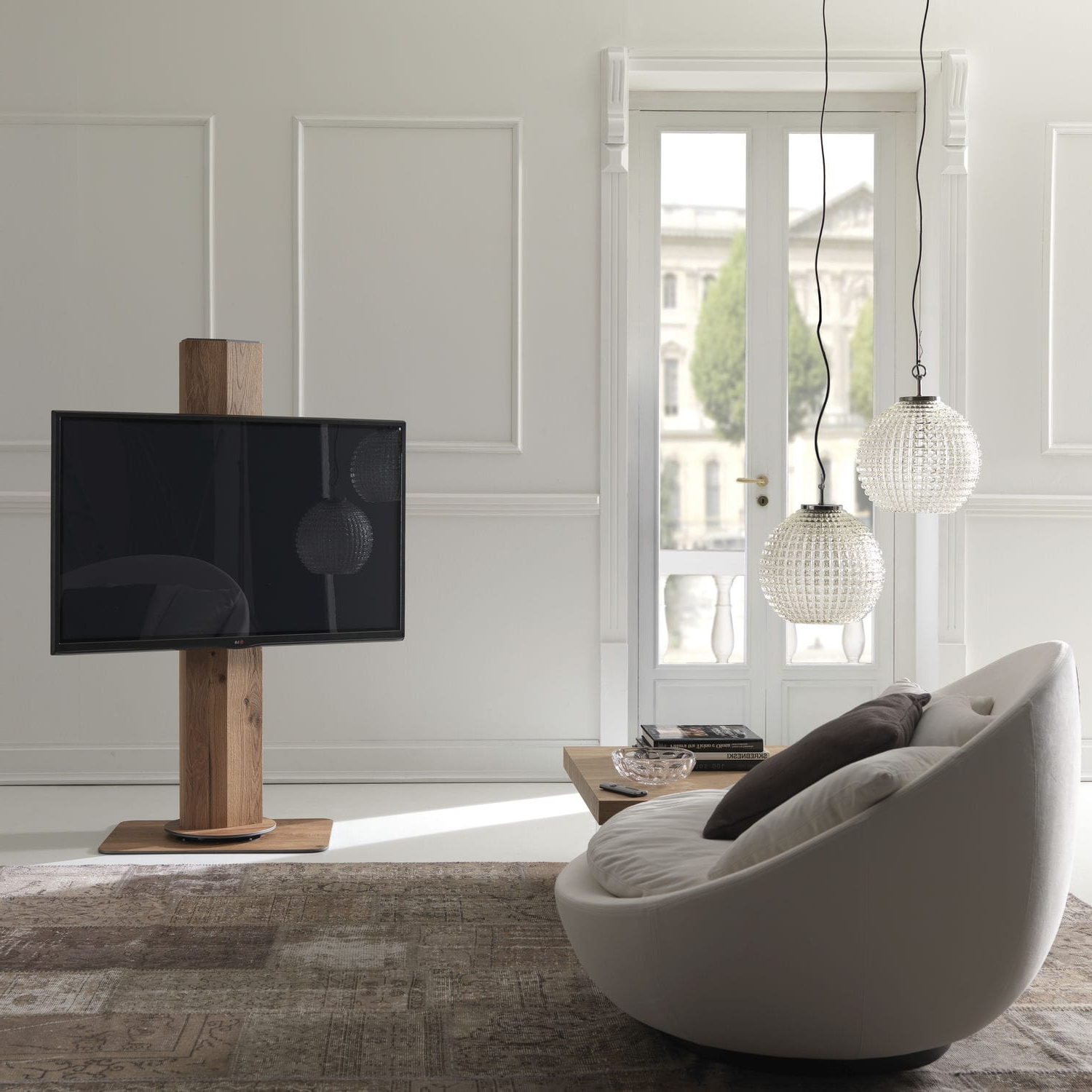 Well Known Contemporary Tv Stand / Swivel / Wooden – Uno X011Marco Pozzoli Intended For Contemporary Tv Stands (Gallery 16 of 20)
