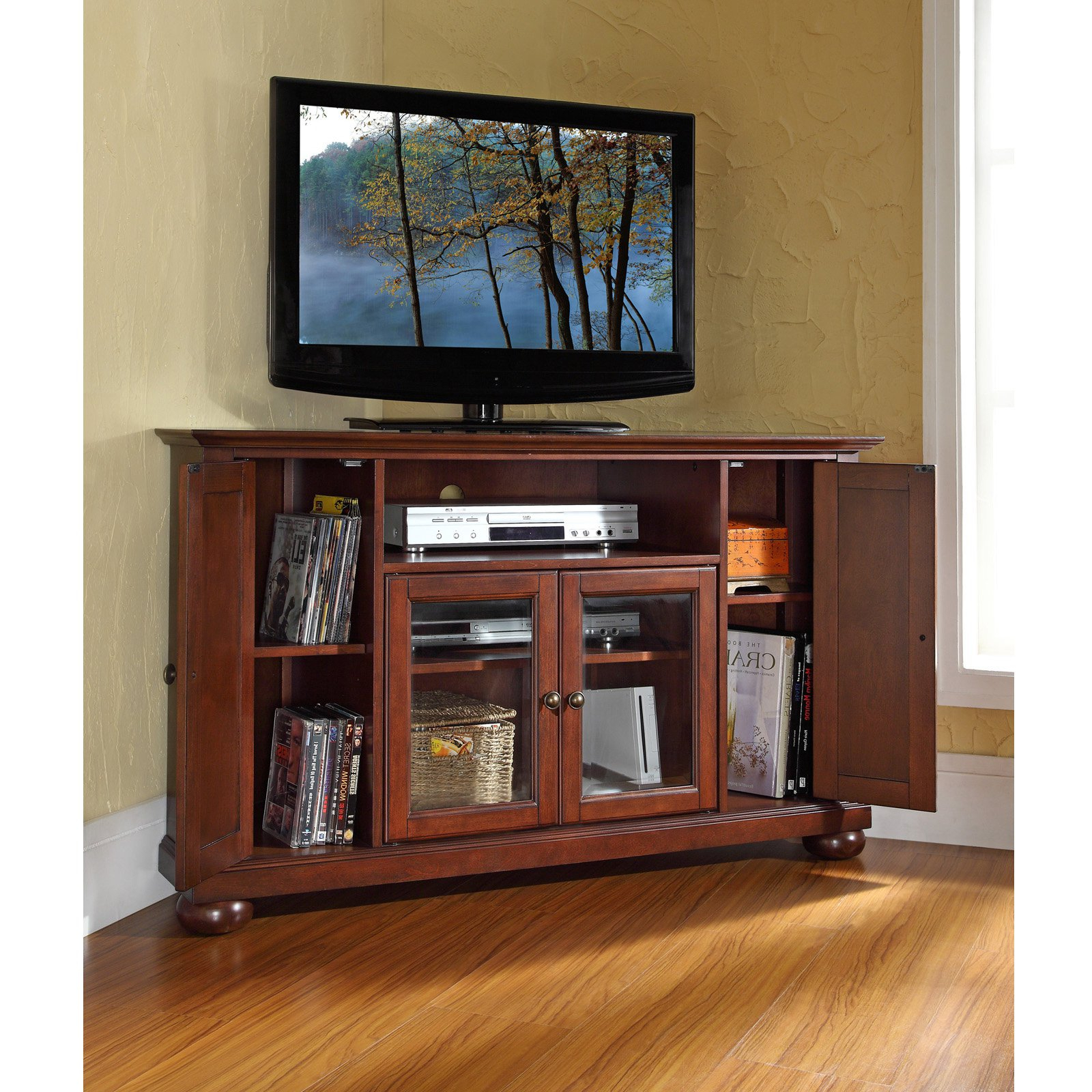 Well Known Corner Tv Stands For 55 Inch Tv For Fireplace Tv Stand Amazon Stands Costco 55 Inch Walmart 65 Corner (View 3 of 20)
