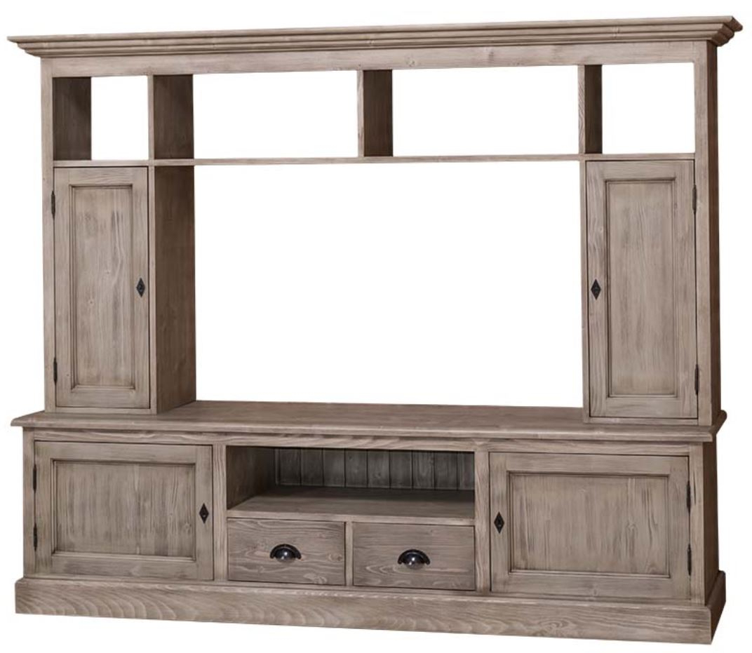 Well Known Country Style Tv Cabinets Inside Casa Padrino Country Style Living Room Tv Cabinet Natural Color  (View 15 of 20)