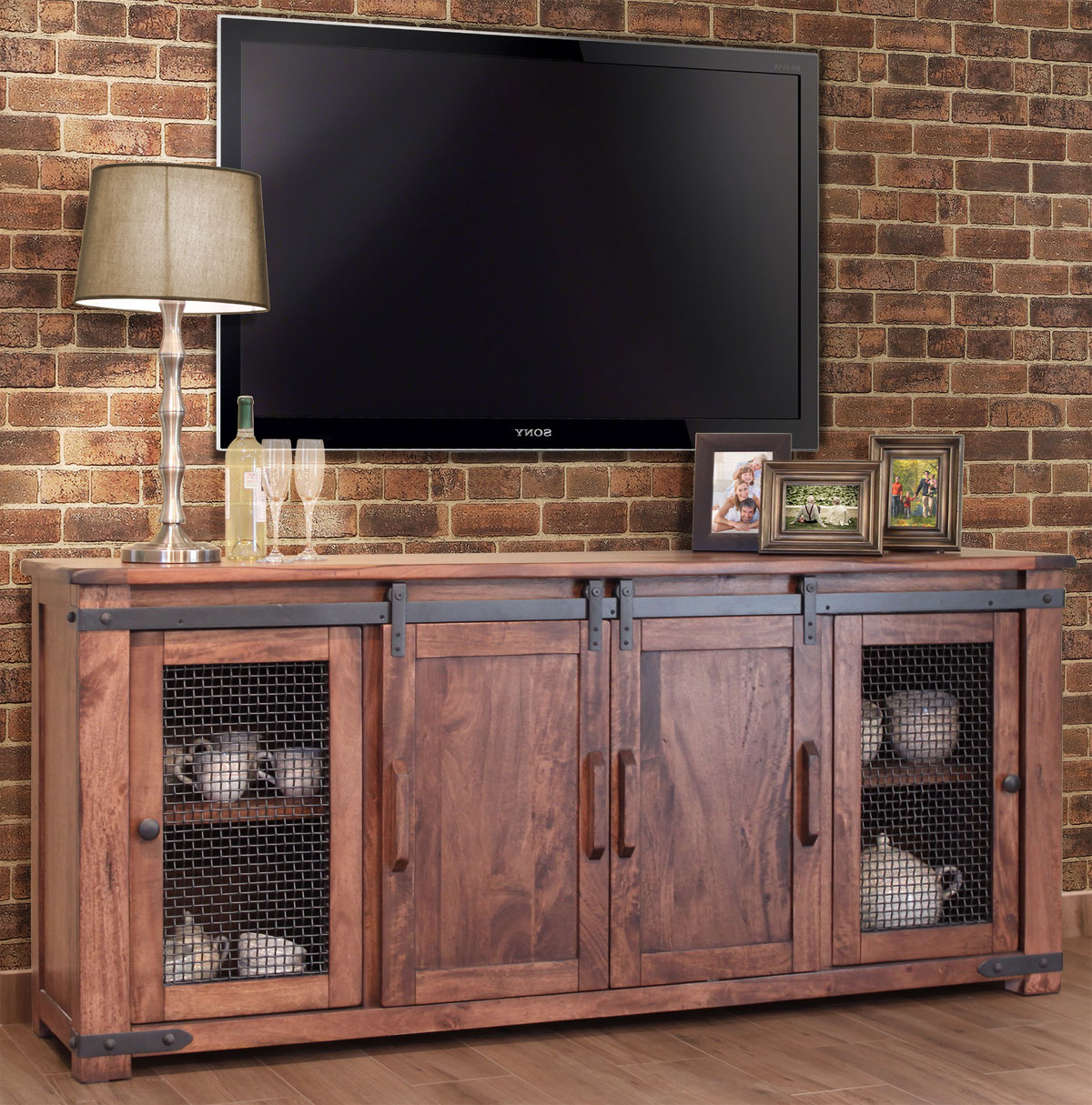 Well Known Country Style Tv Cabinets Pertaining To Tv Stand With Fireplace Corner For 55 Inch Extra Large Electric (View 16 of 20)