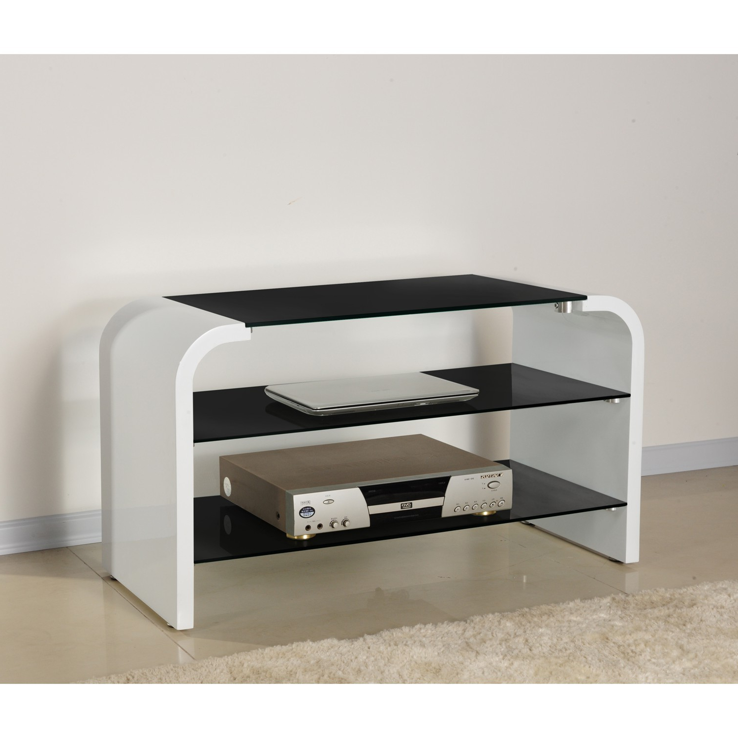 Well Known Cream Gloss Tv Stands Inside Tv Units At The Range (View 8 of 20)