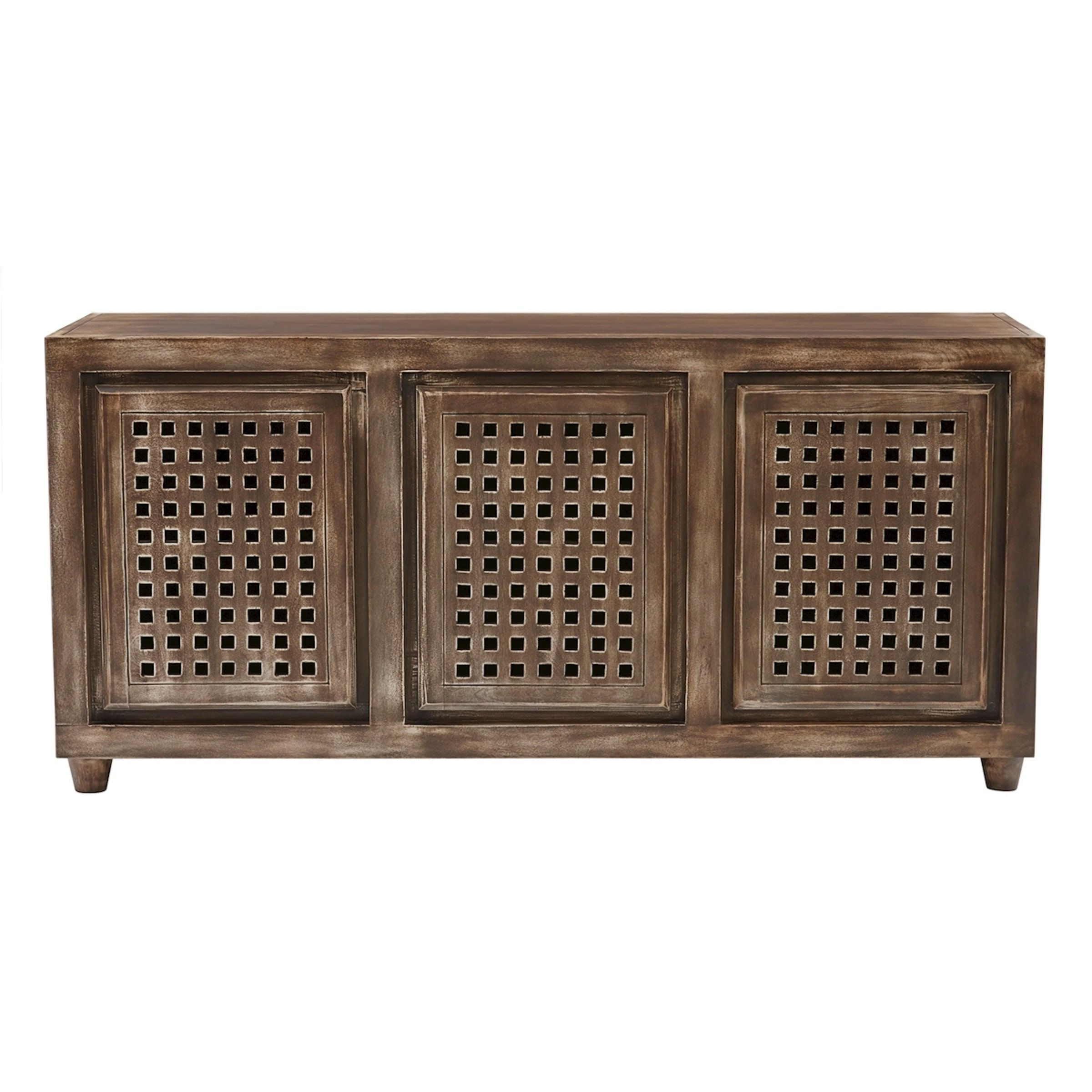 Well Known Elk Lighting Gladys Brow Wood Tone Accent Console (Three Drawer Regarding Walters Media Console Tables (View 20 of 20)