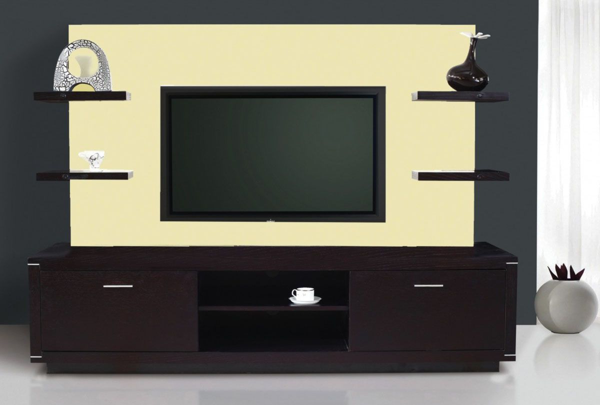 Well Known Exclusive Modern Tv Stand Wall Unit With Hanging Shelves (View 4 of 20)