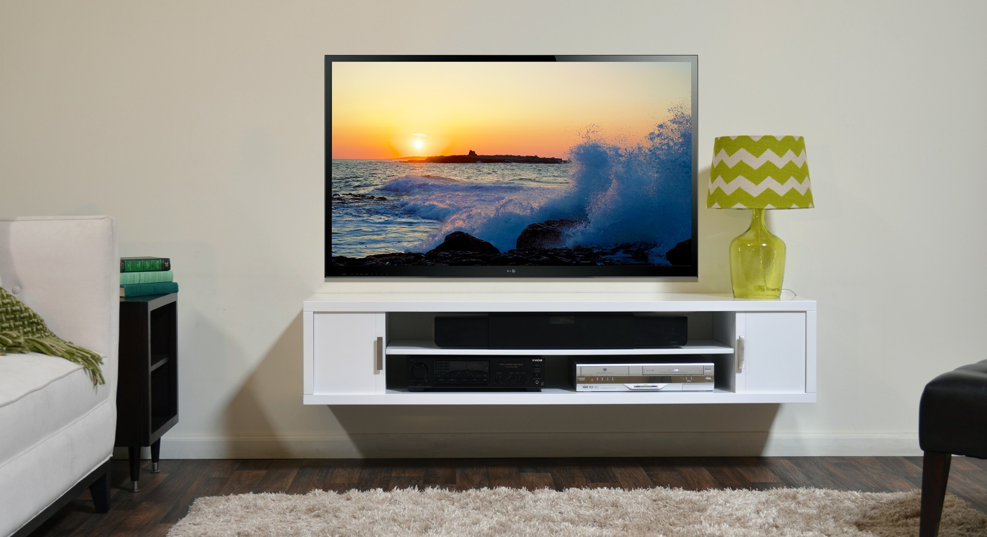 Well Known Floating Tv Stand For Small Space, Perfect! — Home Decor Within Tv Stands For Small Spaces (View 20 of 20)
