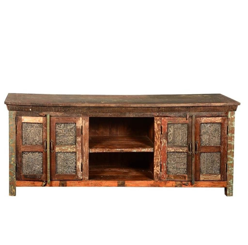 Well Known Furniture: Vintage Rustic Wood Tv Stand Featuring Unique Carved Throughout Rustic Pine Tv Cabinets (View 19 of 20)