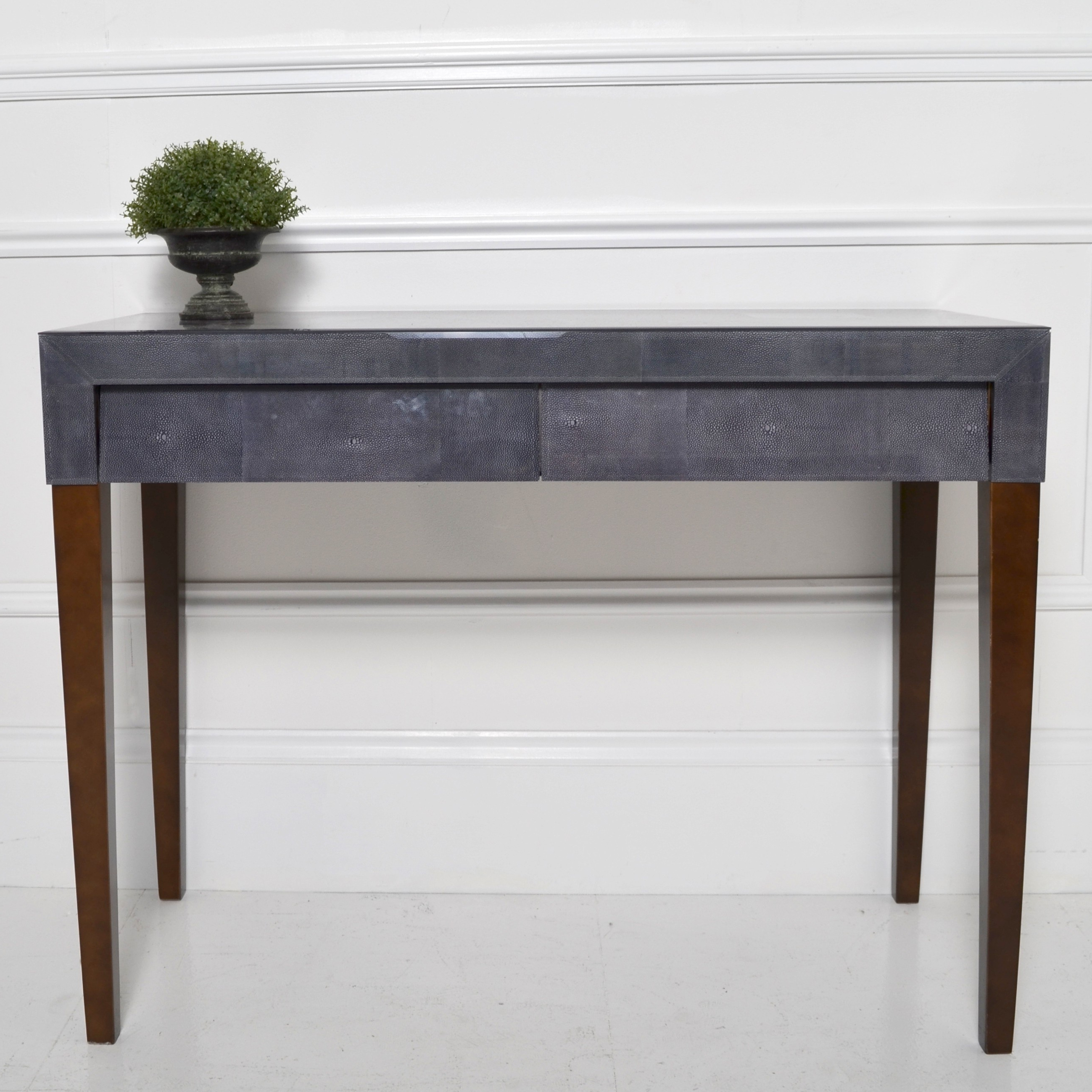 Well Known Grey Shagreen Media Console Tables Within Dark Grey Shagreen Console (View 20 of 20)