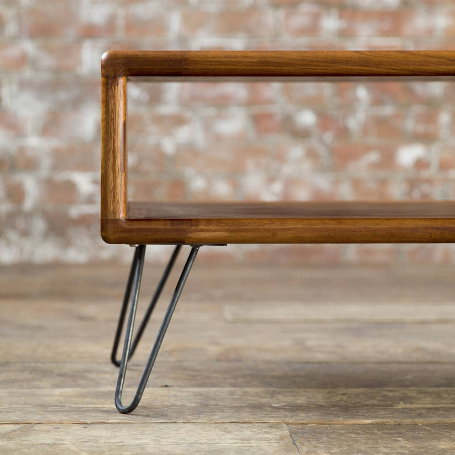 Well Known Hairpin Leg Tv Stands For Iroko Midcentury Modern Hairpin Leg Tv Standbiggs & Quail (View 20 of 20)