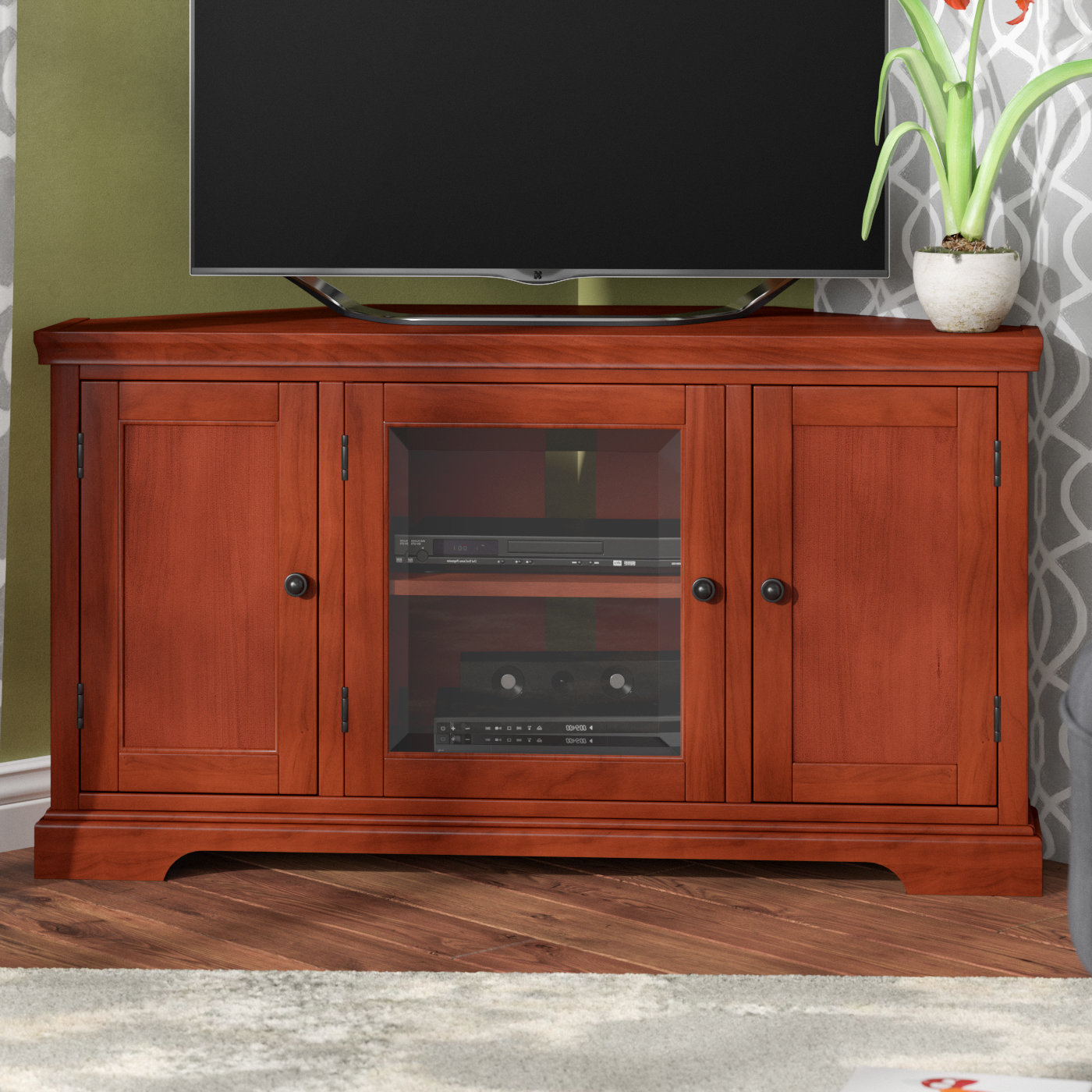 Well Known Hardwood Tv Stands Throughout Corner Tv Stands You'll Love (View 17 of 20)