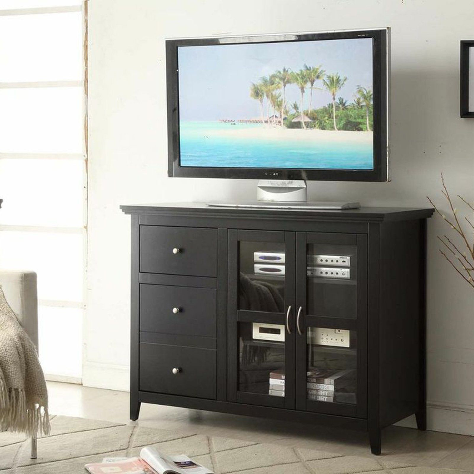 Well Known Highboy Tv Stands Inside $292 48W X 20D X 36H In Convenience Concepts Sierra Highboy Tv Stand (View 18 of 20)