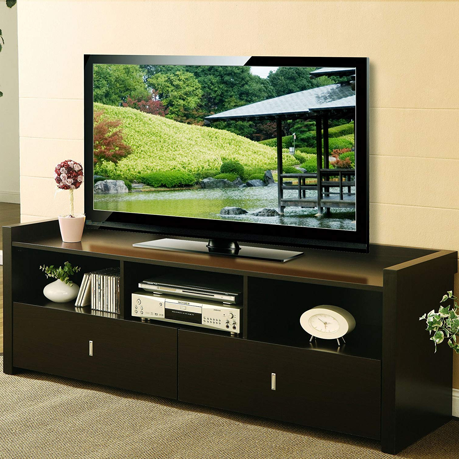"Well Known Hokku Designs Novelty 60"" Tv Stand: Amazon.co (View 19 of 20)"