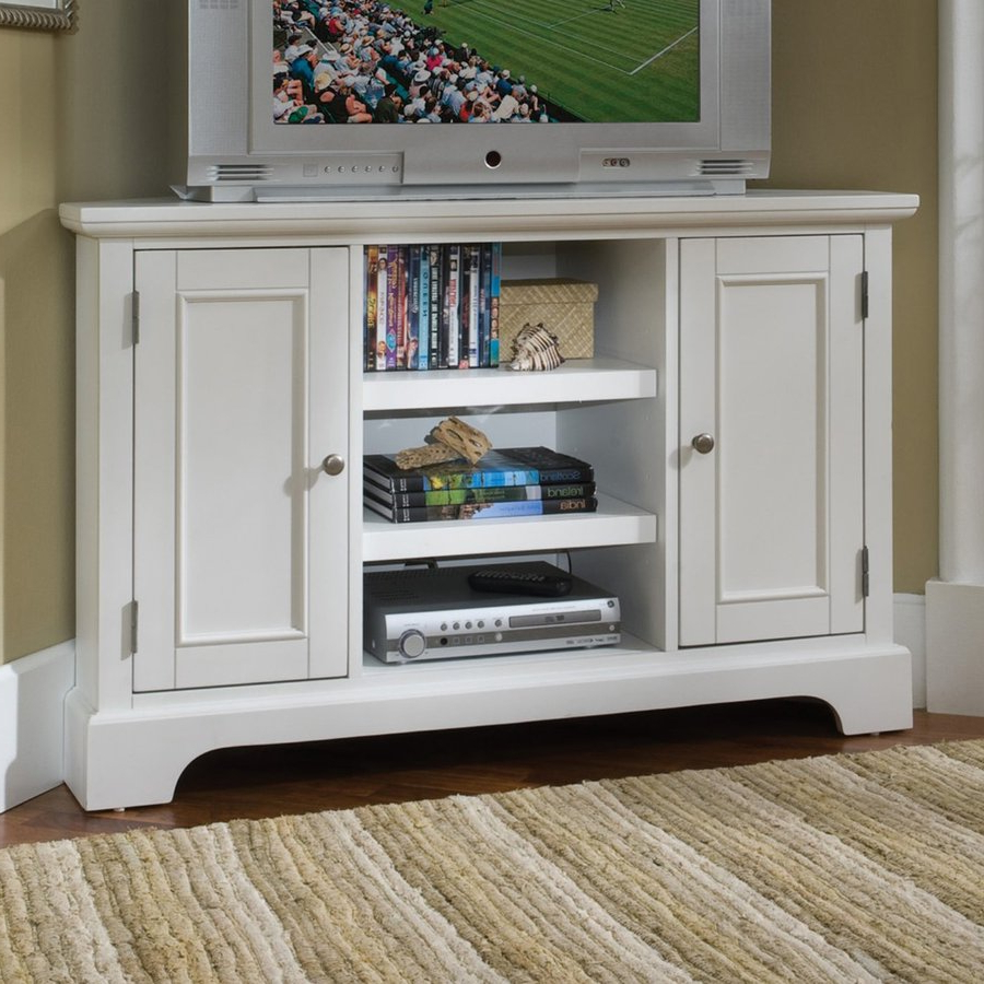 Well Known Home Styles Naples Creamy White Tv Cabinet At Lowes With Regard To White Corner Tv Cabinets (View 14 of 20)