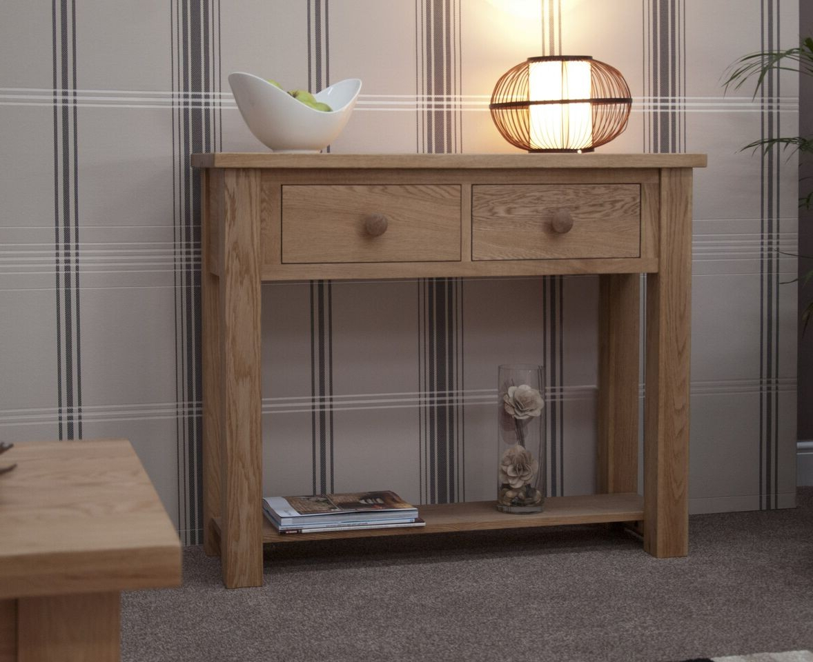 Well Known Homestyle Torino Light Oak Console Table From The Bed Station In Natural 2 Door Plasma Console Tables (View 20 of 20)