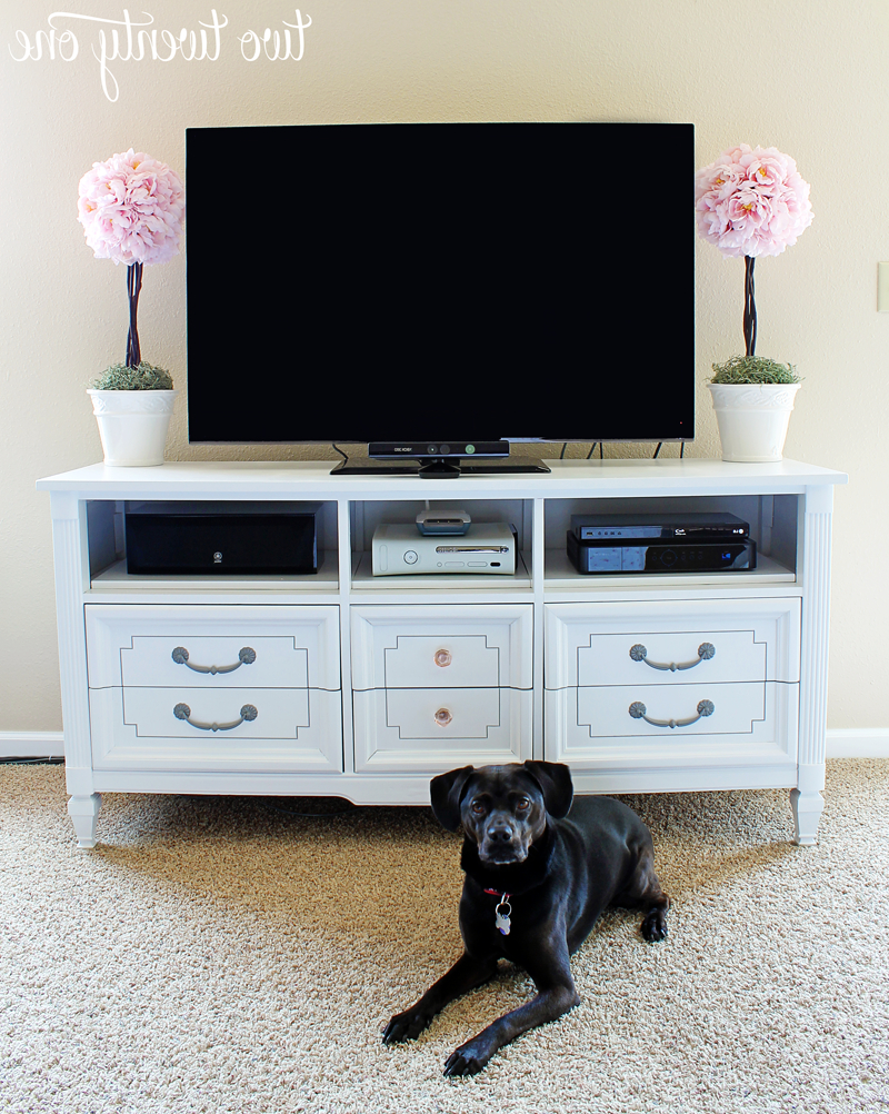 Well Known How To Turn A Dresser Into A Tv Stand {Diy} – Two Twenty One In Bedroom Tv Shelves (View 20 of 20)