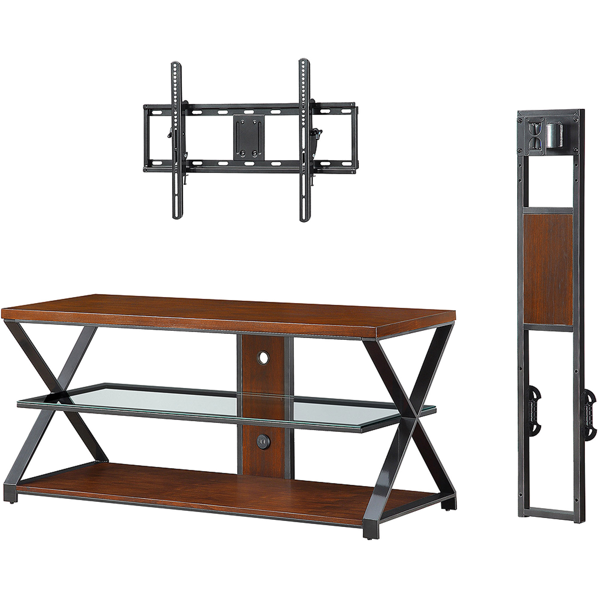 Well Known Jaxon 65 Inch Tv Stands Within Sarah Tv Stands: Jaxon 3 In 1 Cognac Tv Stand For Tvs Up To 70'' (View 6 of 20)