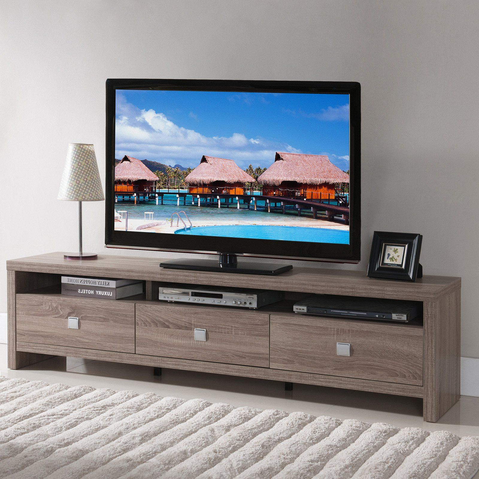 Well Known Kenzie 60 Inch Open Display Tv Stands In Furniture Of America Contemporary Tv Stand (View 18 of 20)