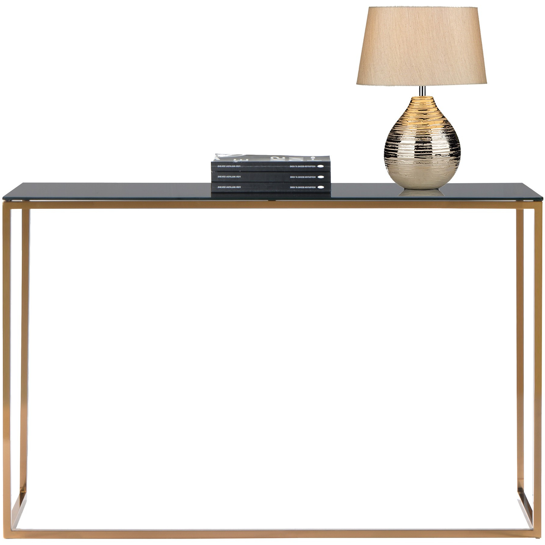 Well Known Kyra (126Cm Gold) Console Table With Tempered Glass Top Pertaining To Kyra Console Tables (View 10 of 20)