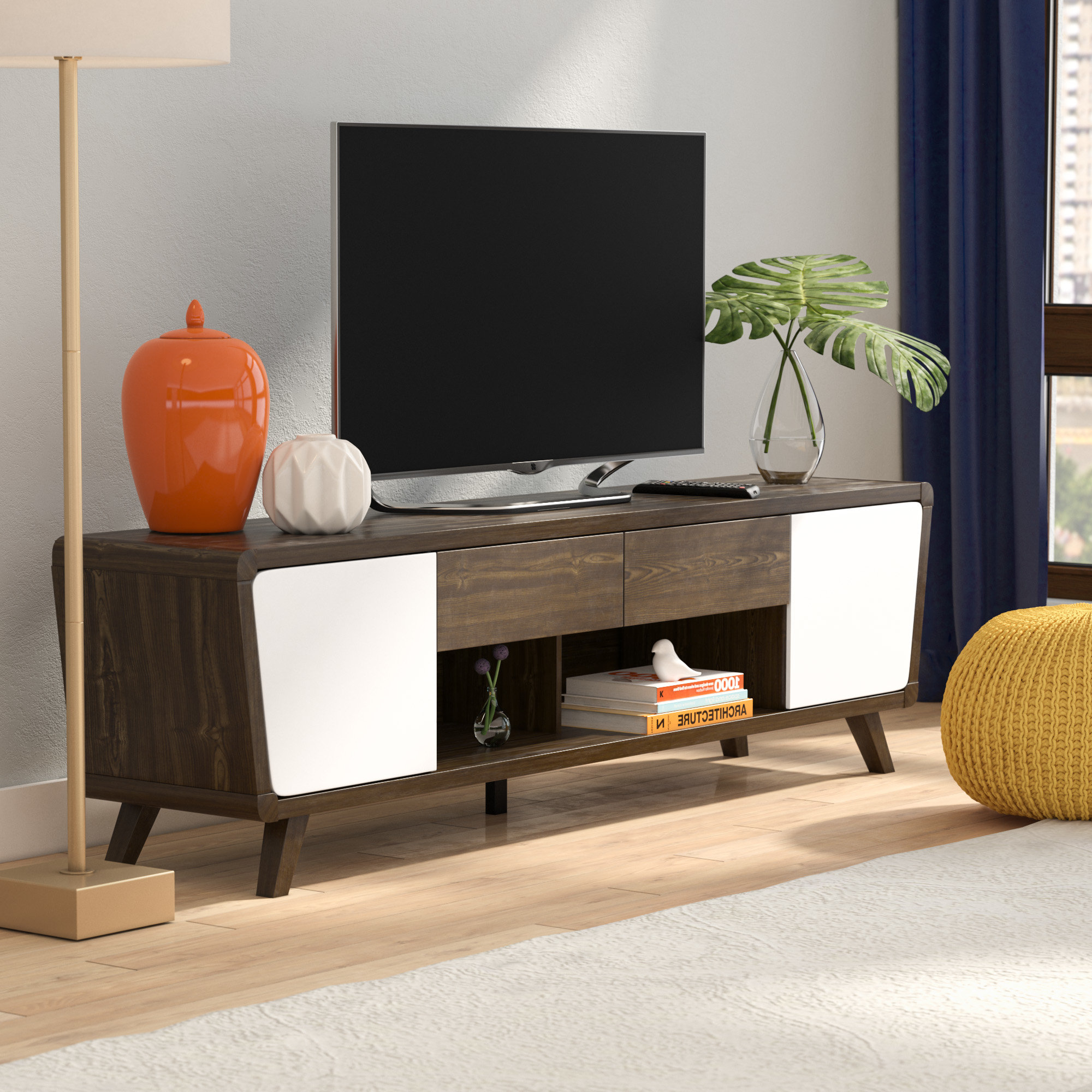 """Well Known Modern Tv Cabinets For Flat Screens With Regard To Langley Street Dormer Modern Tv Stand For Tvs Up To 70"""" & Reviews (View 19 of 20)"""