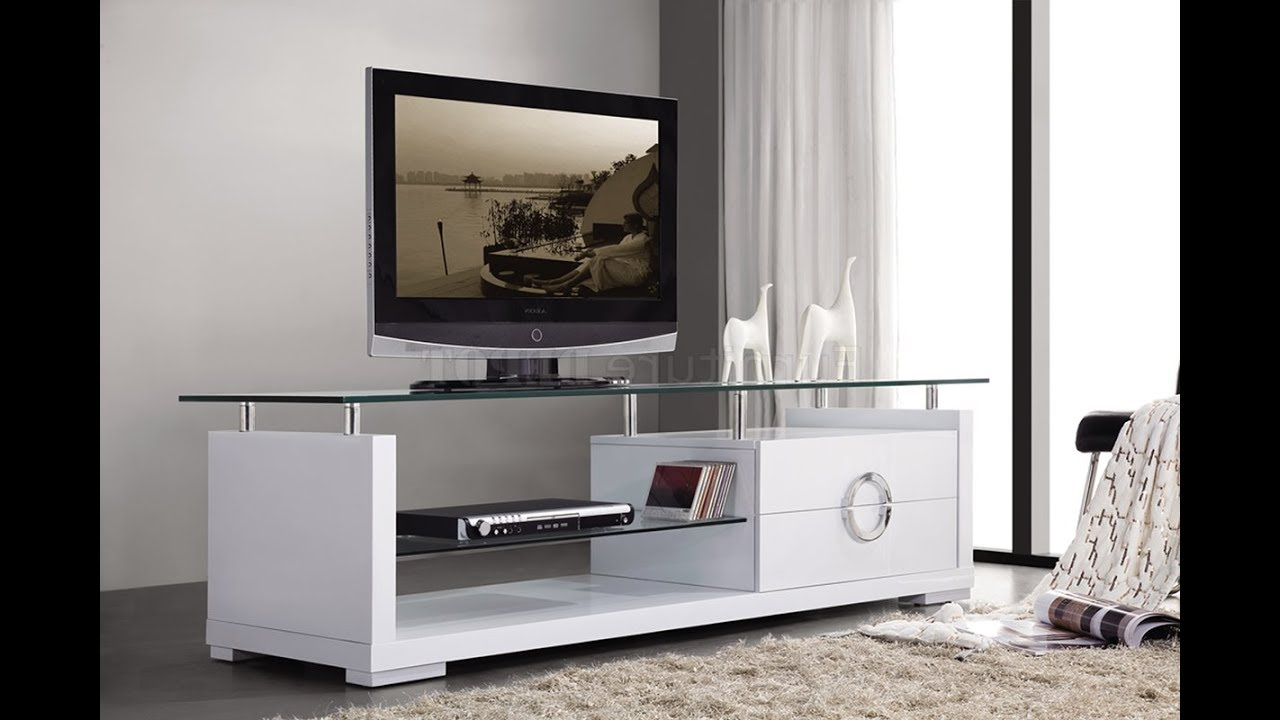 Well Known Modern Tv Stands For Flat Screens – Youtube Within Modern Tv Stands For Flat Screens (View 19 of 20)