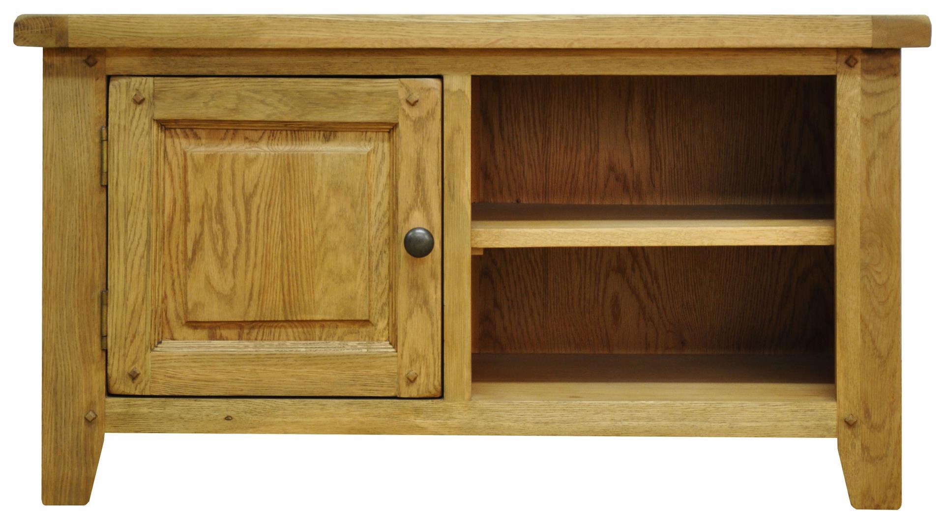 Well Known Oak Tv Cabinets With Doors Regarding Tv Cabinets : Stanton Standard Rustic Oak Tv Unitstanton Standard (View 18 of 20)