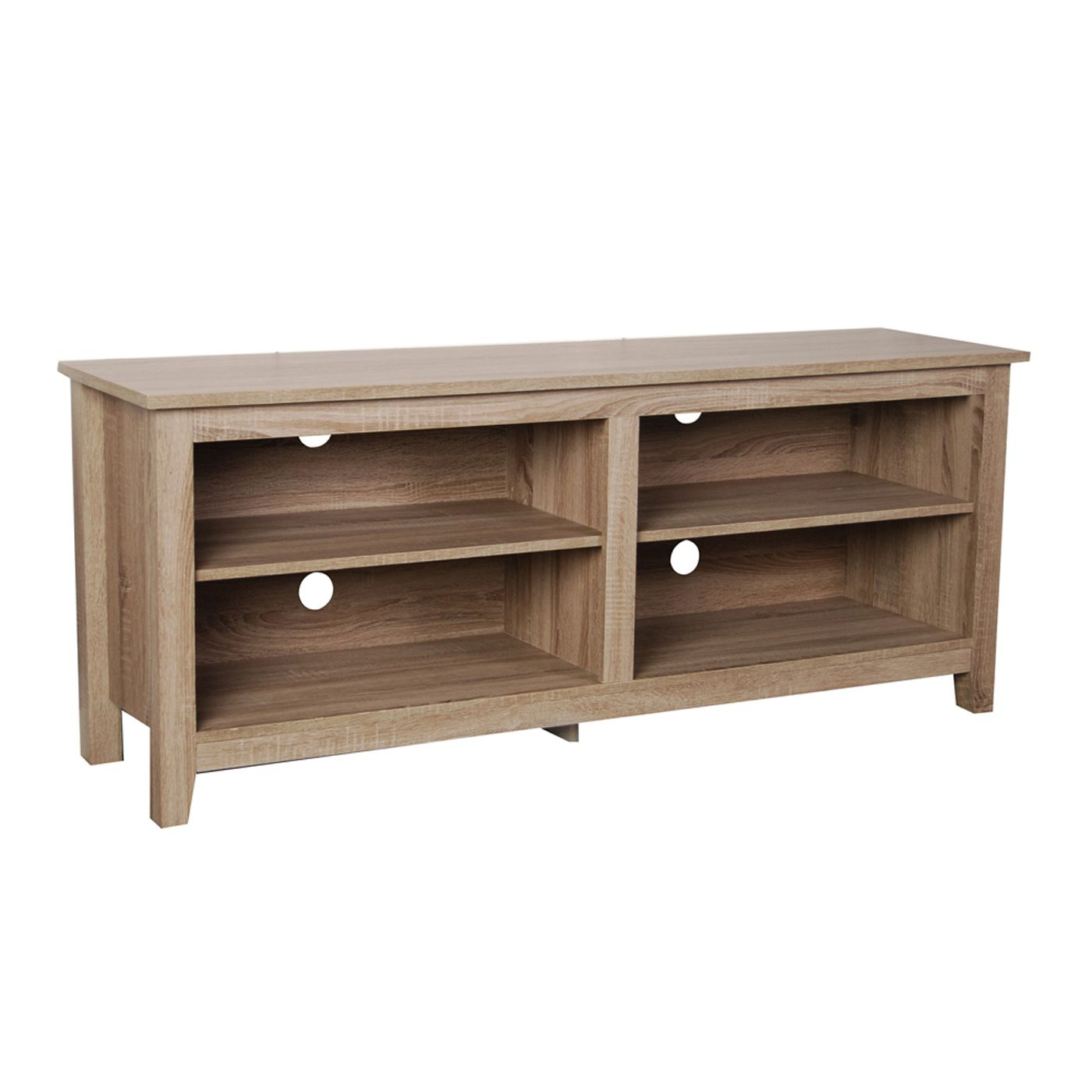 Well Known Open Shelf Tv Stands Regarding 58 Inch Open Shelf Wood Tv Stand In Tv Armoires (View 12 of 20)