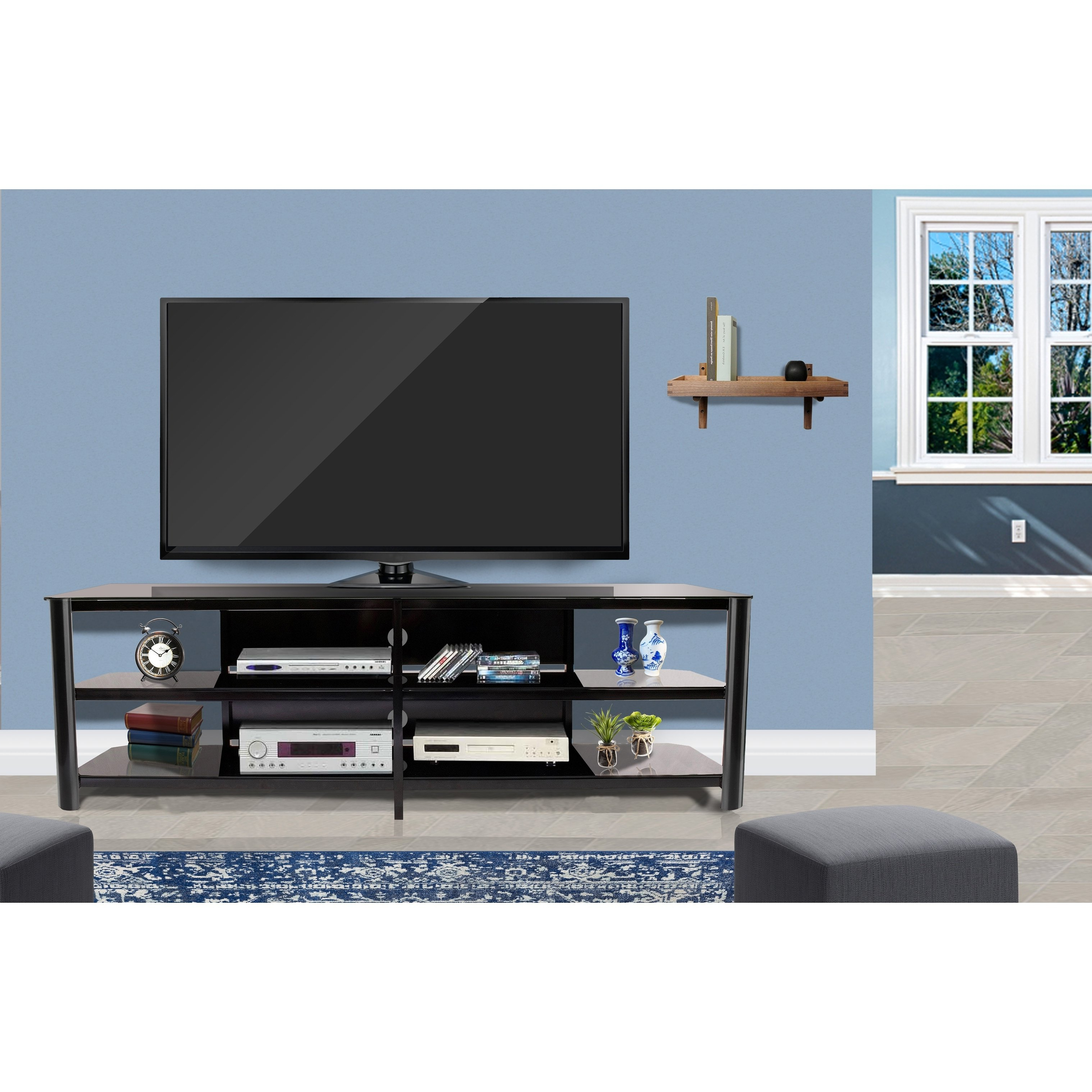 Well Known Oxford 84 Inch Tv Stands With Shop Fold 'n' Snap Oxford Ez Black Innovex Tv Stand – Free Shipping (View 18 of 20)