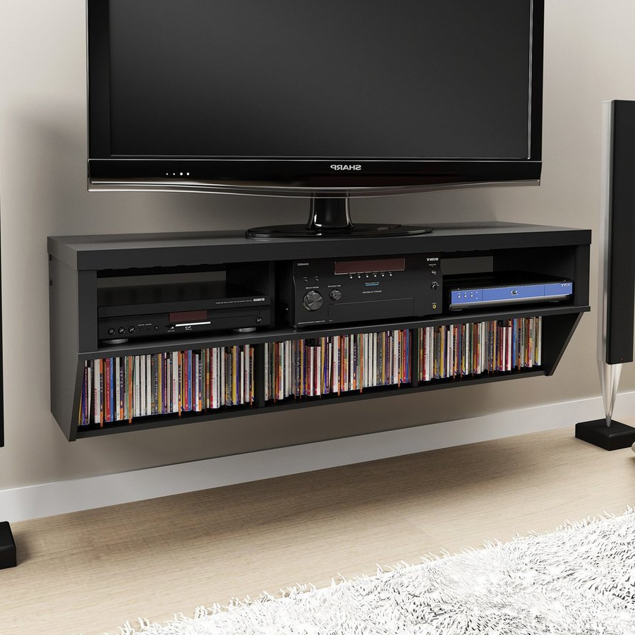 Well Known Prepac Black Wall Mounted Tv Stand At Lowes Throughout Wall Mounted Tv Racks (Gallery 16 of 20)