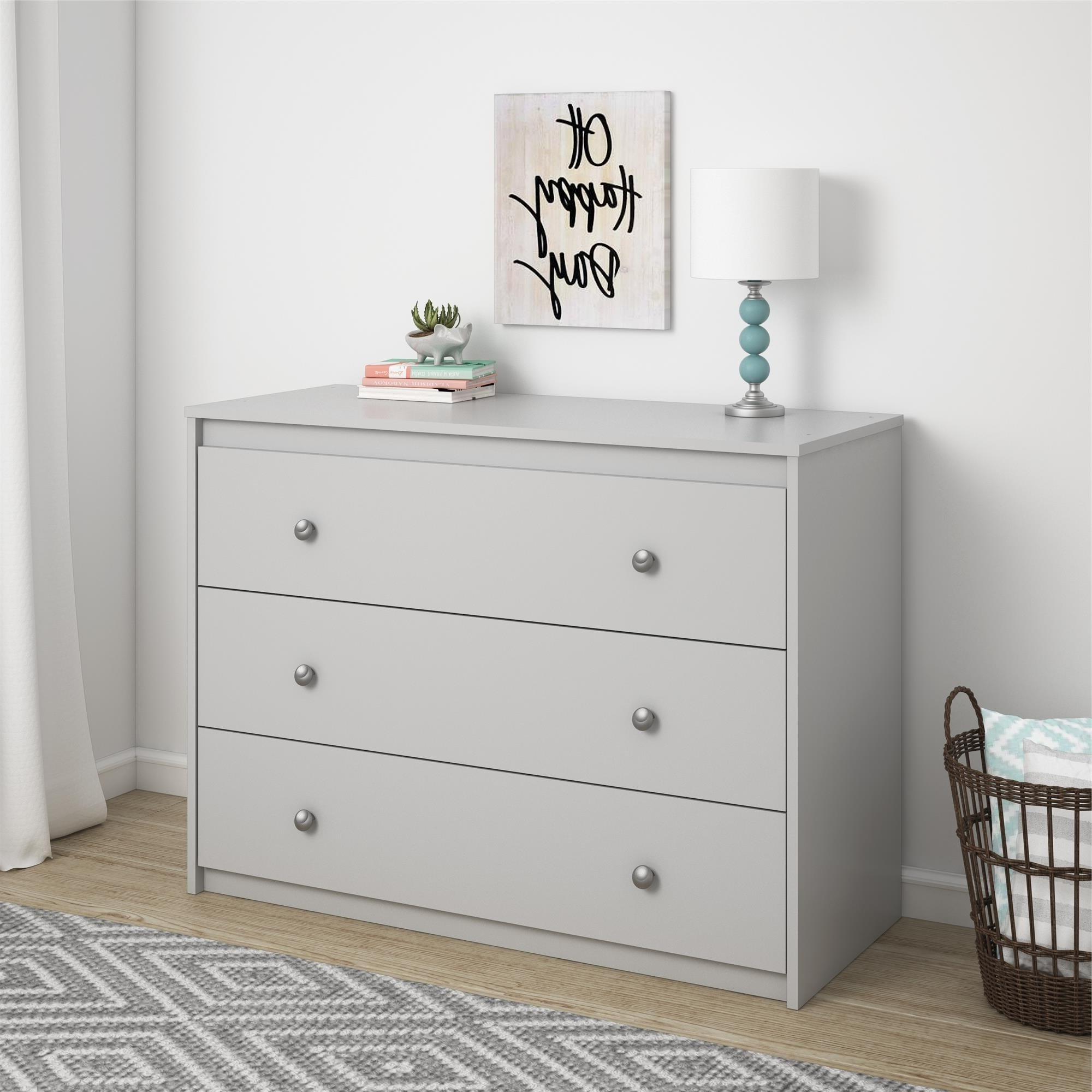 Well Known Raven Grey Tv Stands With Shop Avenue Greene Raven Grey 3 Drawer Dresser – On Sale – Free (Gallery 9 of 20)