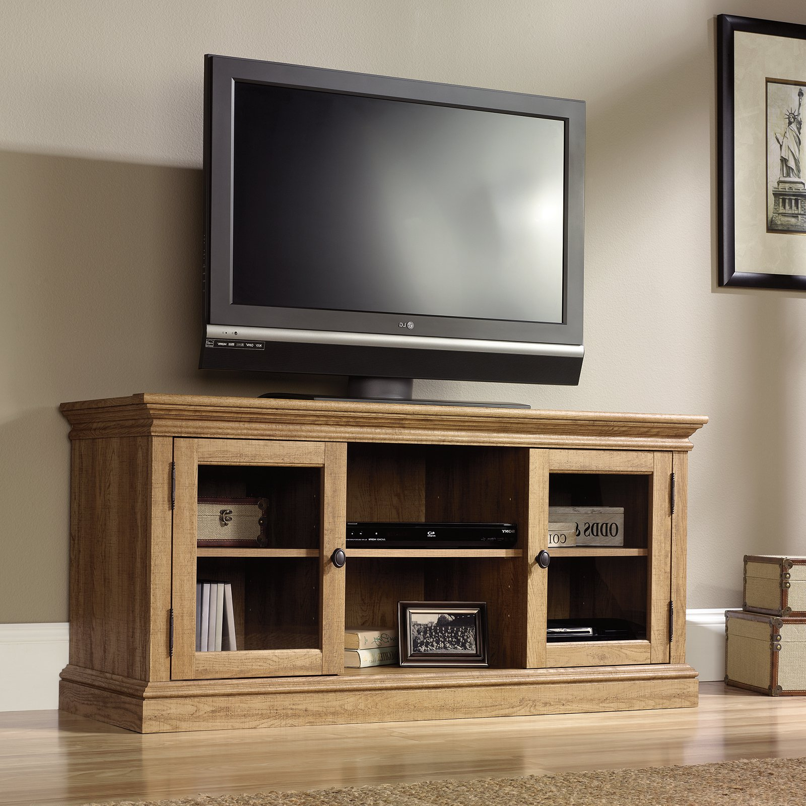 Well Known Remarkable Santana Blonde Oak Tv Unit Santana Blonde Oak Tv Unit Tv With Regard To Oak Tv Cabinets For Flat Screens With Doors (View 20 of 20)