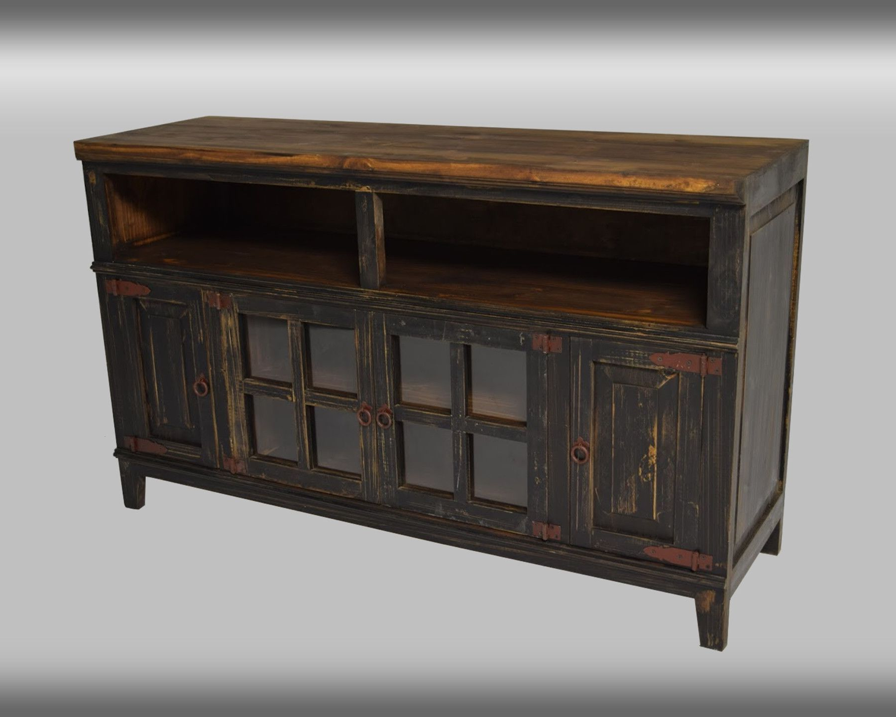 Well Known Rustic Collection: Tv Console (Antique, Black, Natural, Red With Rustic Red Tv Stands (View 17 of 20)