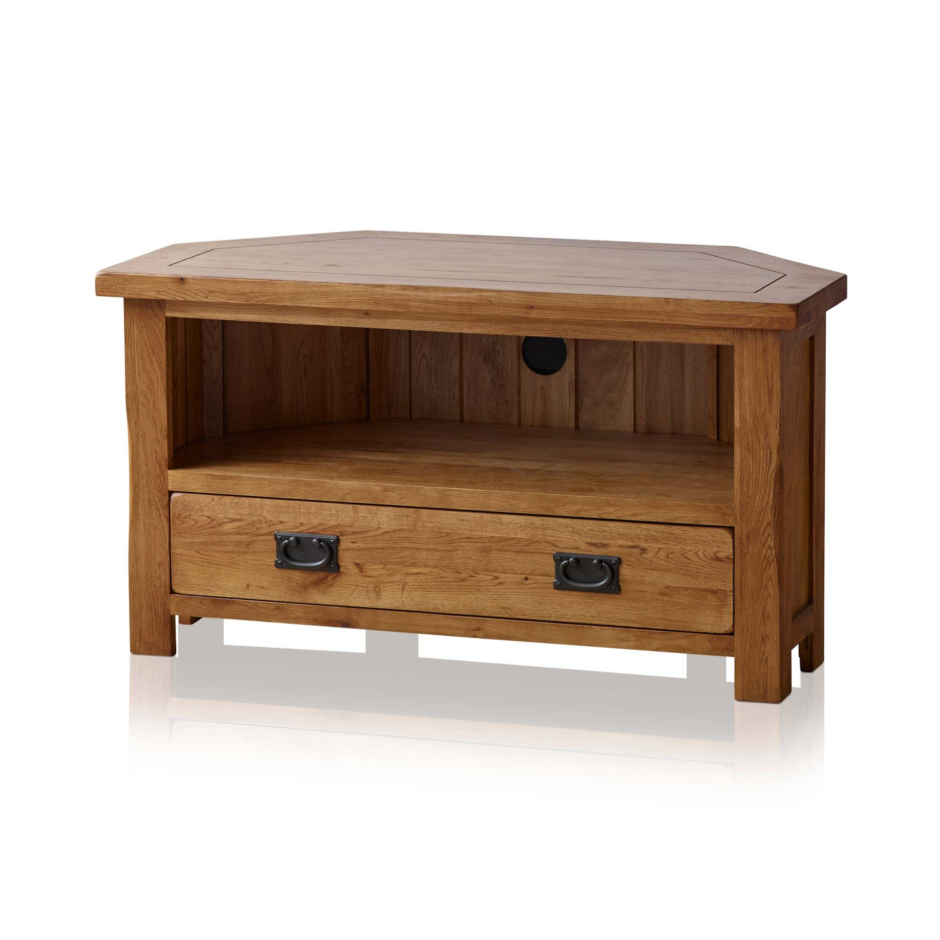Well Known Rustic Corner Tv Unit In Solid Oak (View 11 of 20)