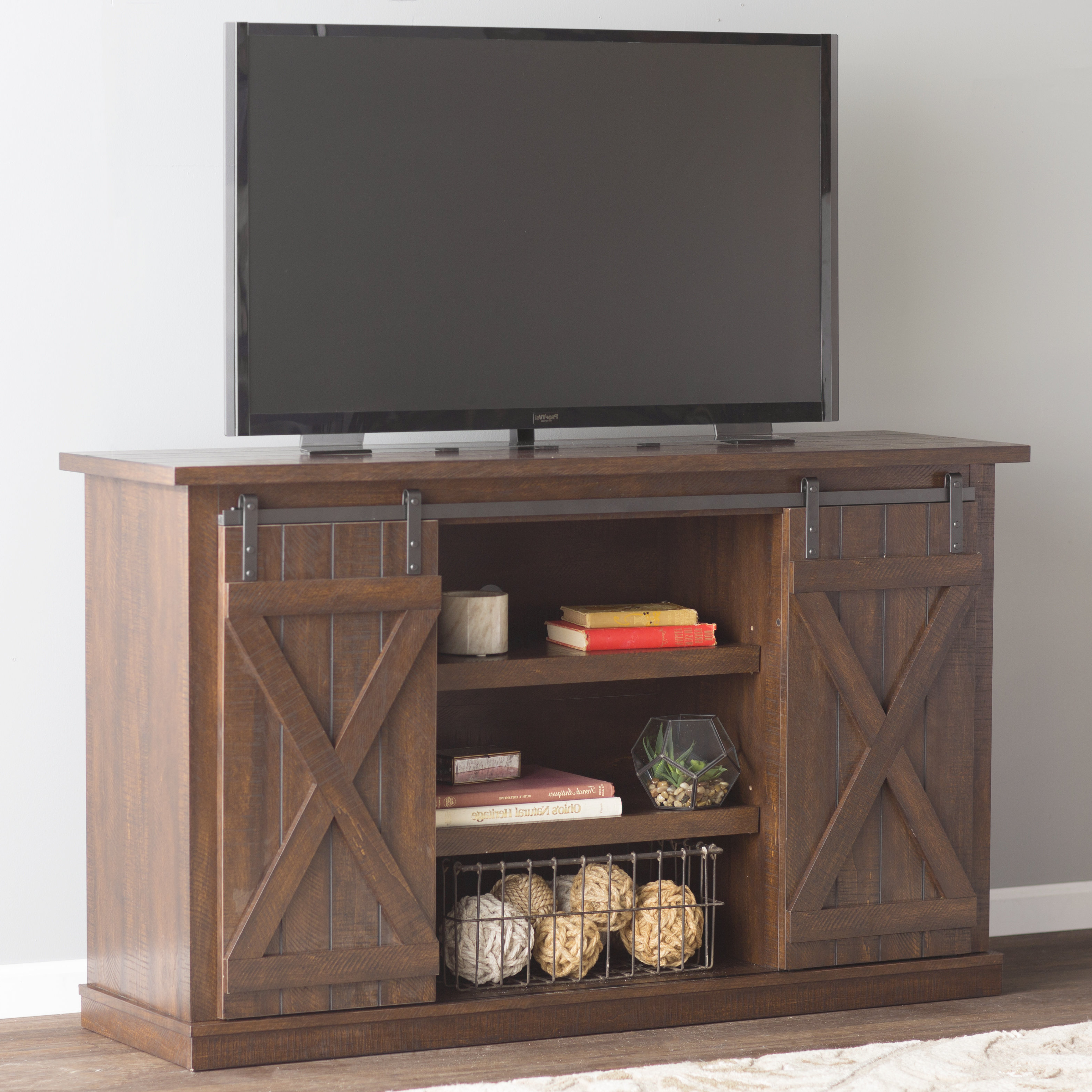 Well Known Rustic Wood Tv Cabinets Pertaining To Rustic Tv Stands & Entertainment Centers You'll Love (View 13 of 20)