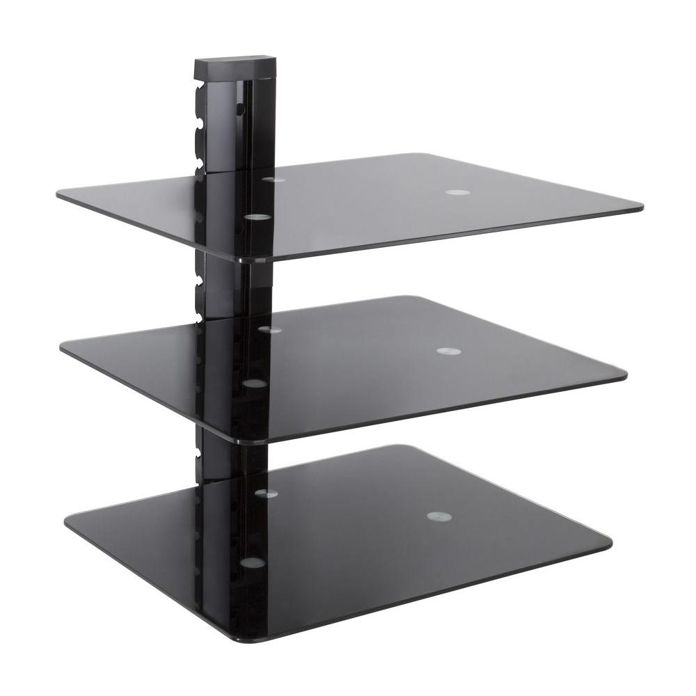 Well Known Shelves For Tvs On The Wall Within Avf Wall Mounted Av Component Shelving Bracket, 3 Shelf As300 A (View 16 of 20)