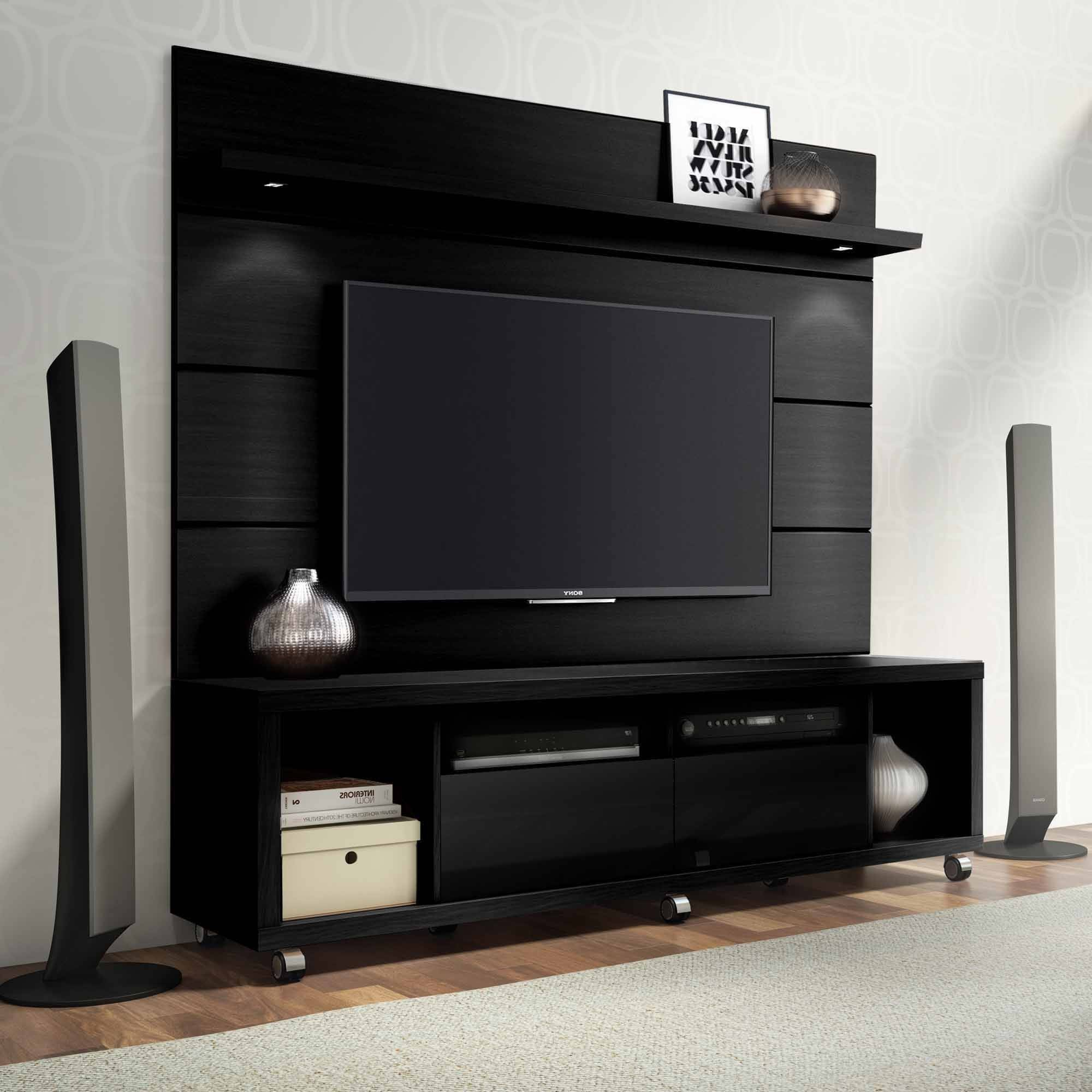 Well Known Shiny Tv Stands With Manhattan Comfort Cabrini Tv Stand And Floating Wall Tv Panel With (View 16 of 20)