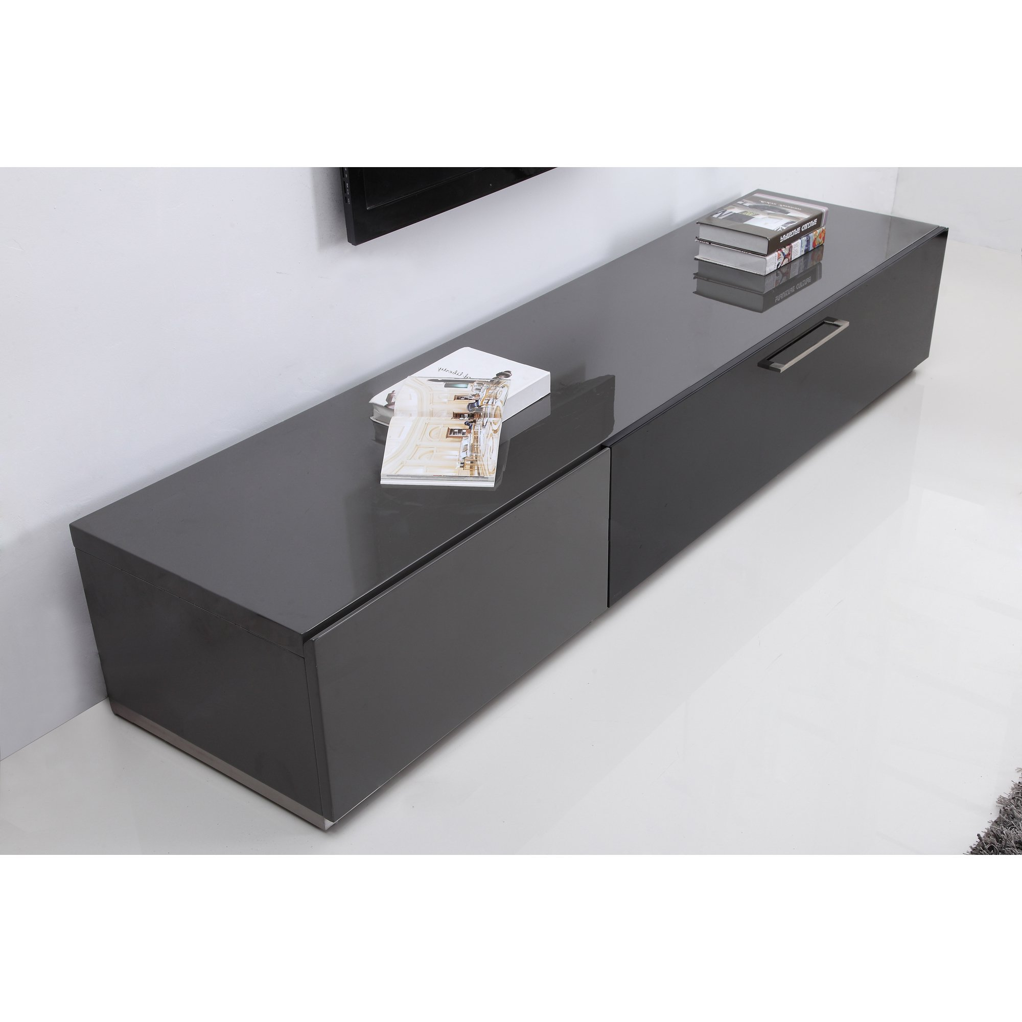 Well Known Shop B Modern Producer Grey/ Black/ Steel Modern Tv Stand With Ir Within B Modern Tv Stands (View 20 of 20)