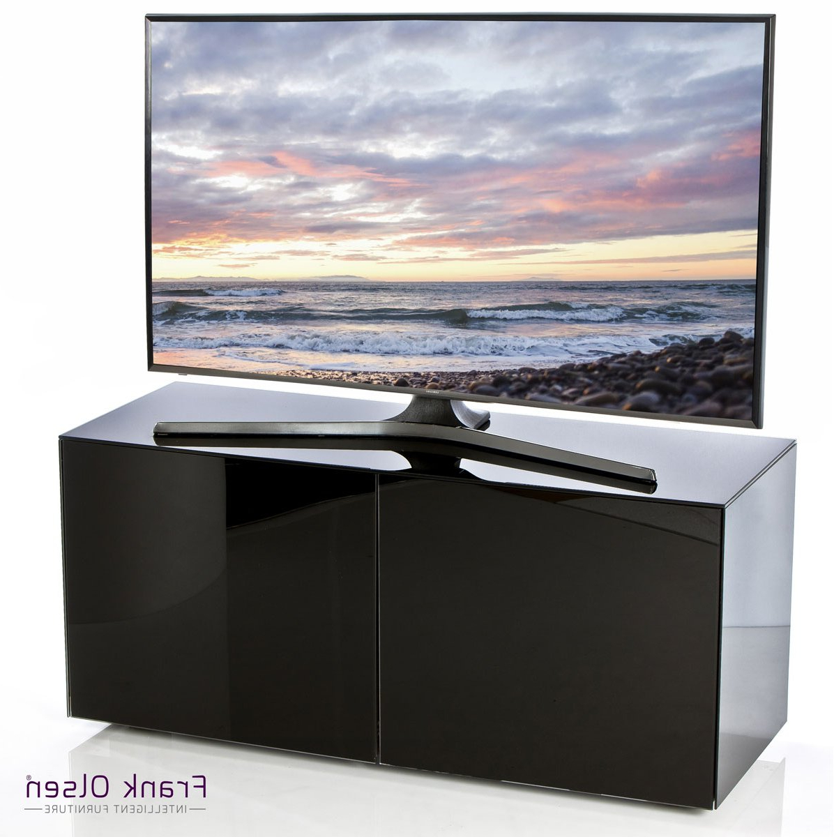 Well Known Small Black Tv Cabinets Pertaining To Frank Olsen Intel1100Blk Tv Stands (View 7 of 20)