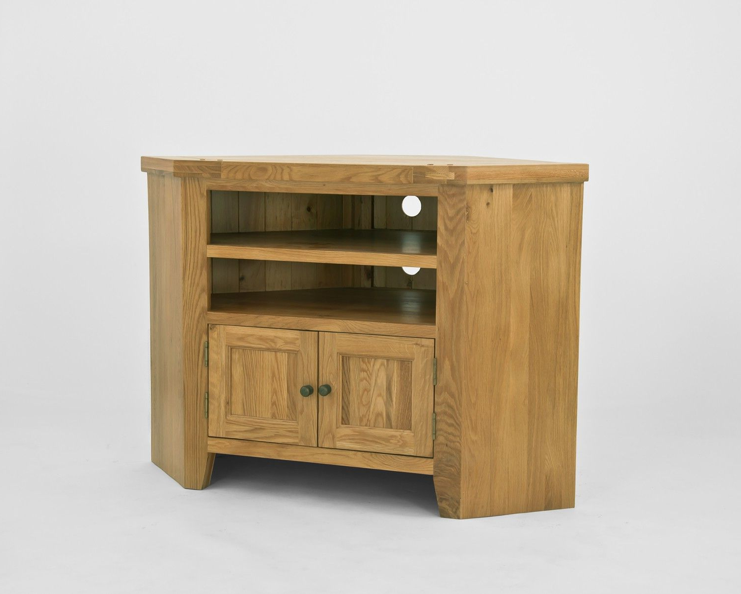 Well Known Small Oak Corner Tv Stands With Elegance Oak Corner Tv Unit – Elegance Oak Is Designed With Petite (View 17 of 20)