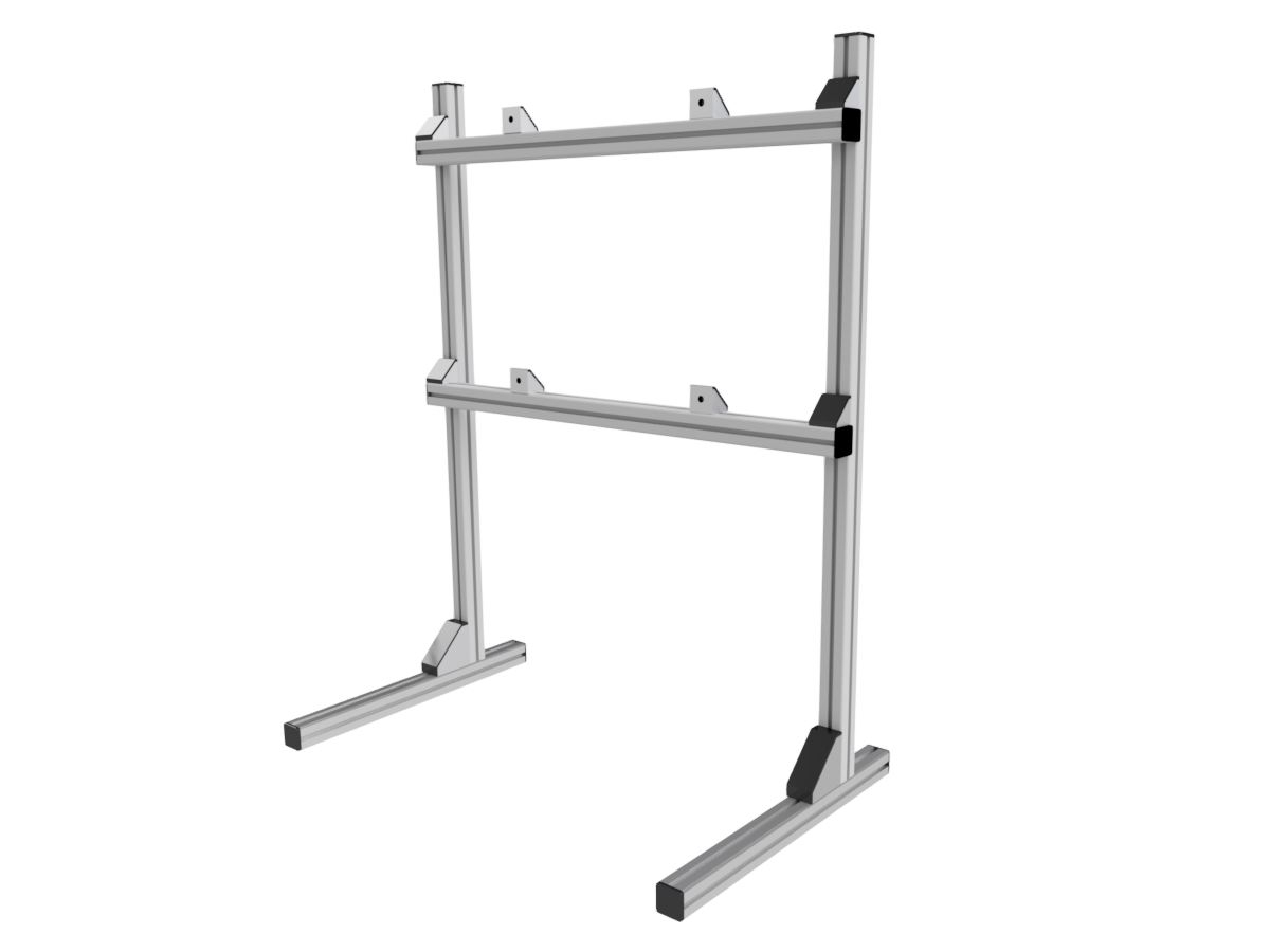 Well Known Small Tv Stands On Wheels With Regard To Single Monitor / Tv Stand – Sim Lab (View 20 of 20)