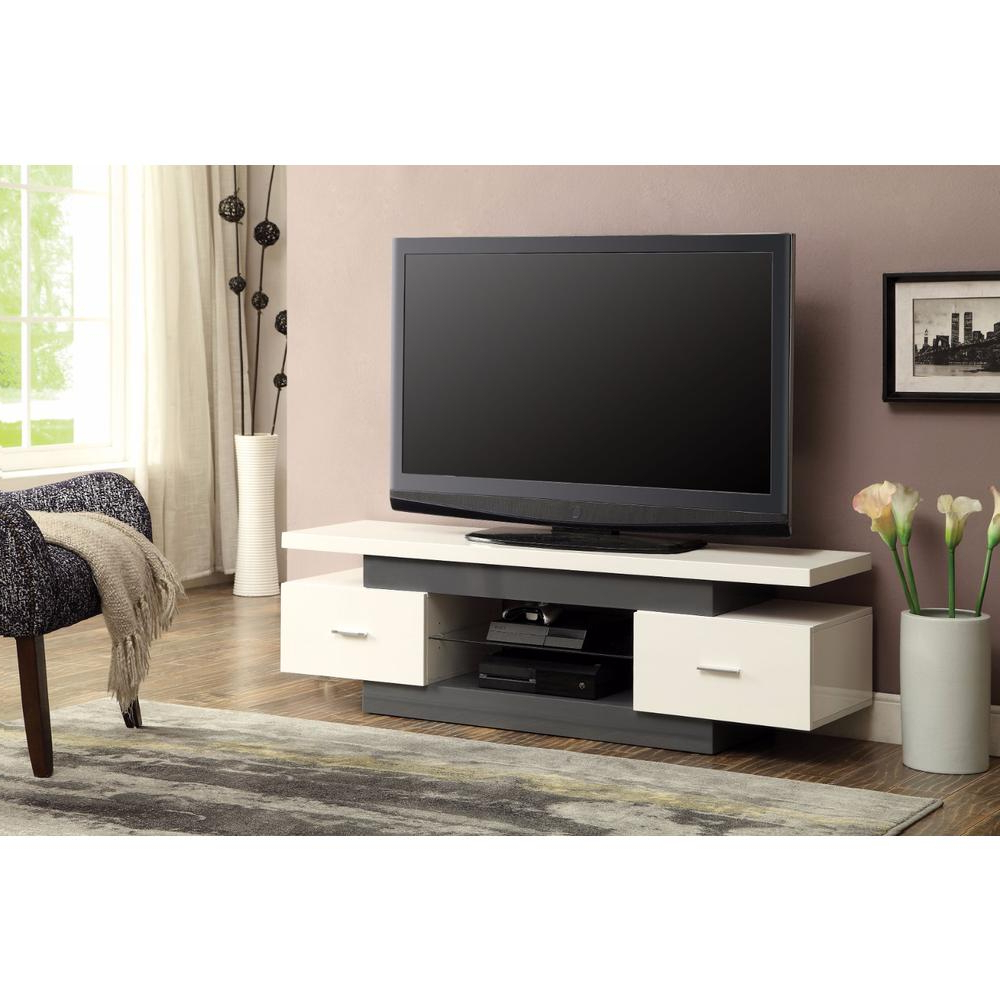 Well Known Stylish Tv Stands Pertaining To Stylish Tv Stand, White & Gray (View 18 of 20)