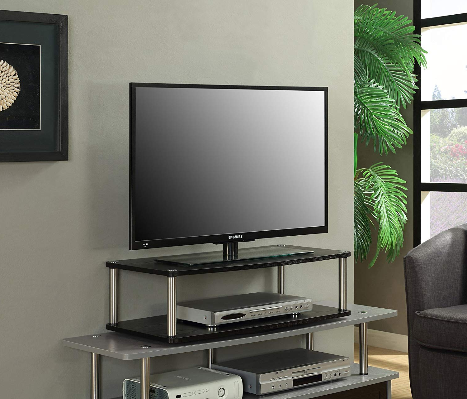 Well Known Swivel Tv Riser Within Amazon: Convenience Concepts Designs2Go 2 Tier Tv Swivel Board (View 18 of 20)