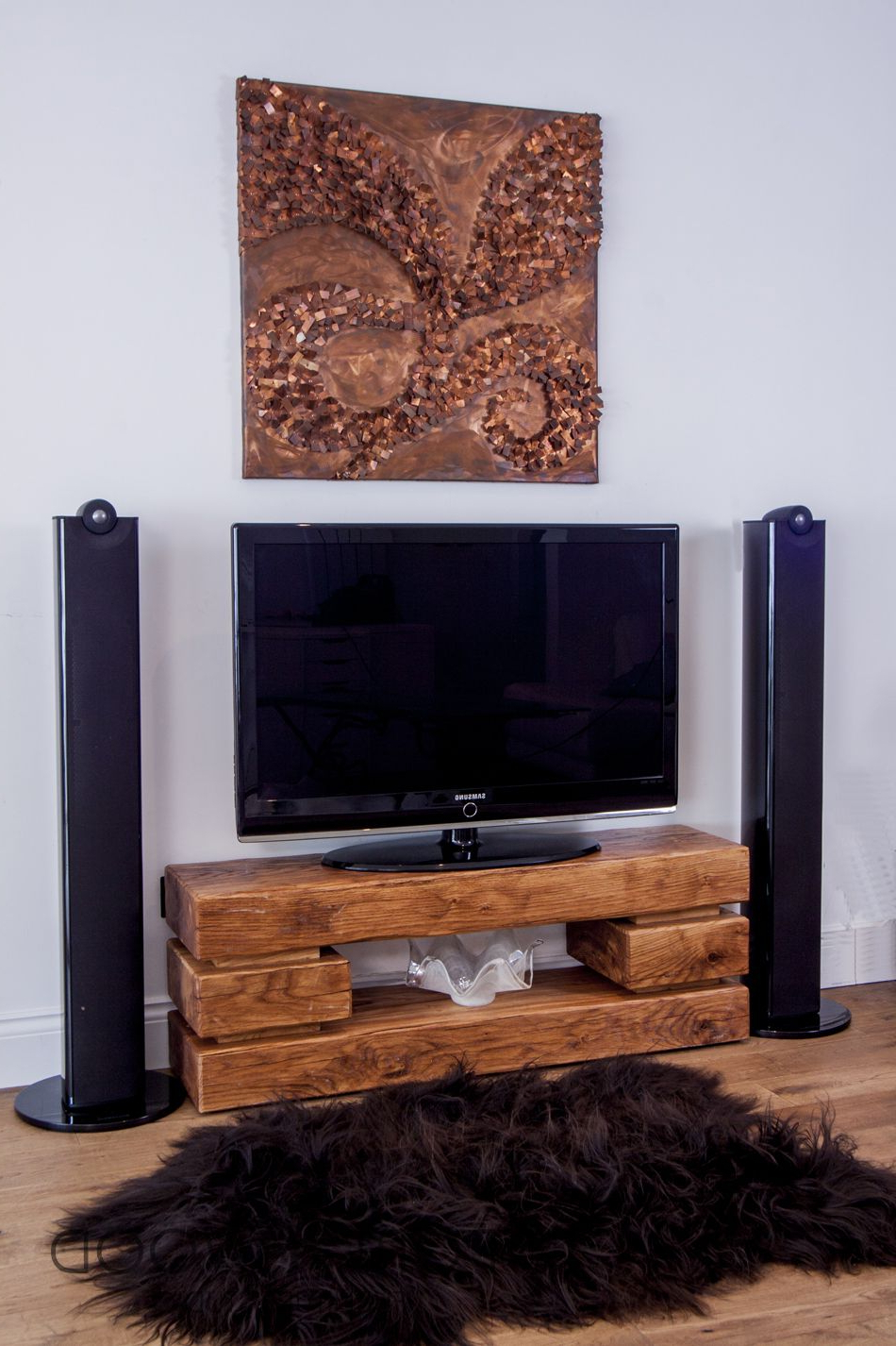 Well Known This Chunky Oak Tv Stand Has Been Crafted In England From Air Dried Intended For Chunky Tv Cabinets (View 20 of 20)