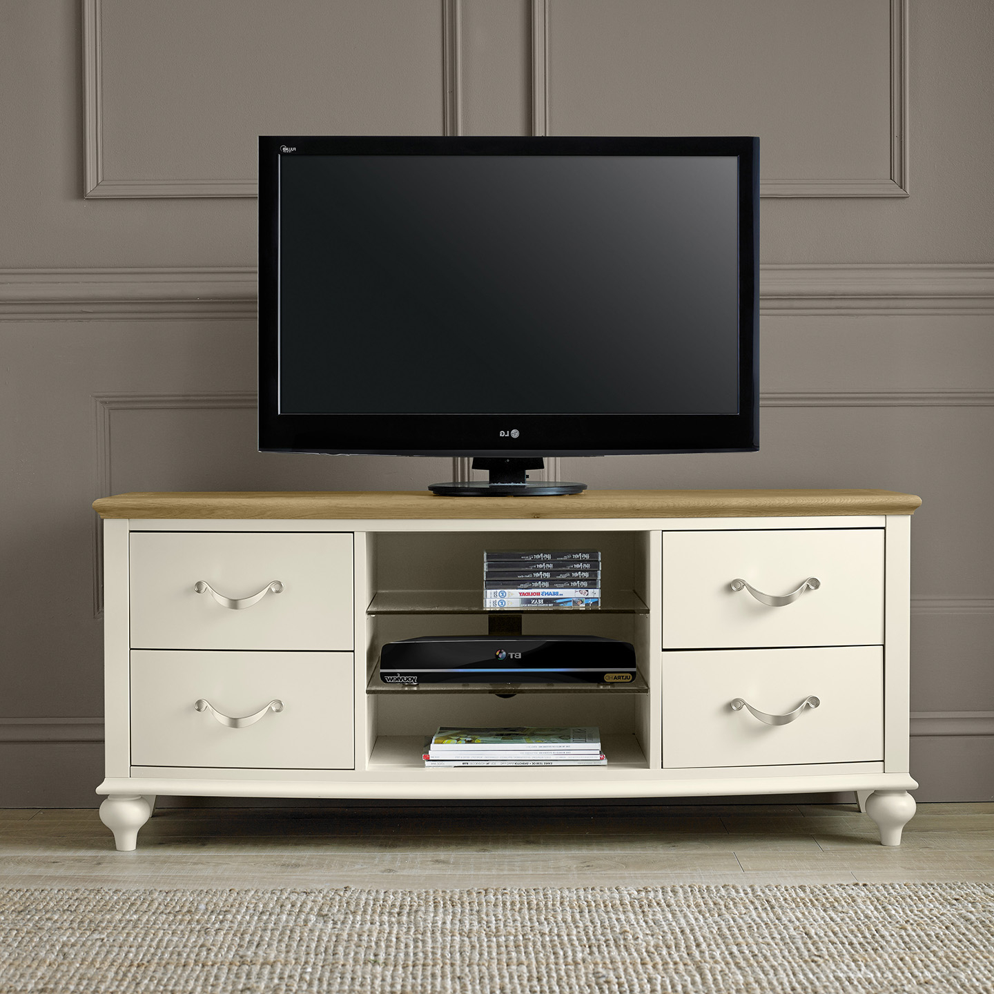 Well Known Tv Entertainment Unit With Regard To Montreux Tv Entertainment Unit – Cream – Upstairs Downstairs (View 19 of 20)