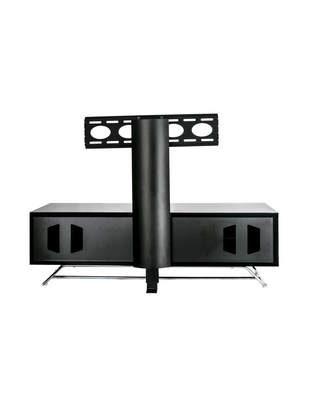 Well Known Tv Stand Cantilever Inside Alphason Chromium Cantilever Tv Stand Cro2 1200Bkt Bk (View 18 of 20)