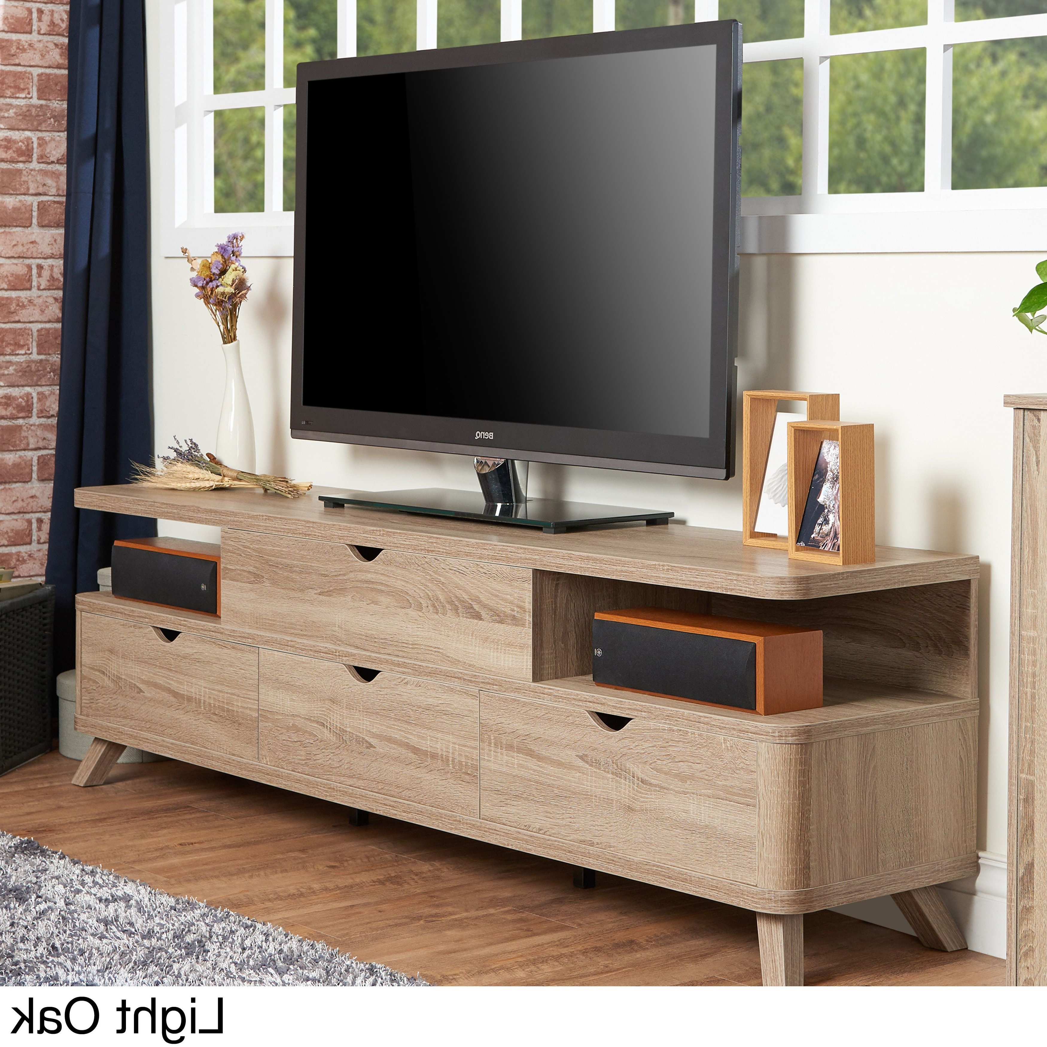 Well Known Tv Stands Rounded Corners For With Its Flared Legs And Rounded Corners, This Tv Stand Adds (View 10 of 20)