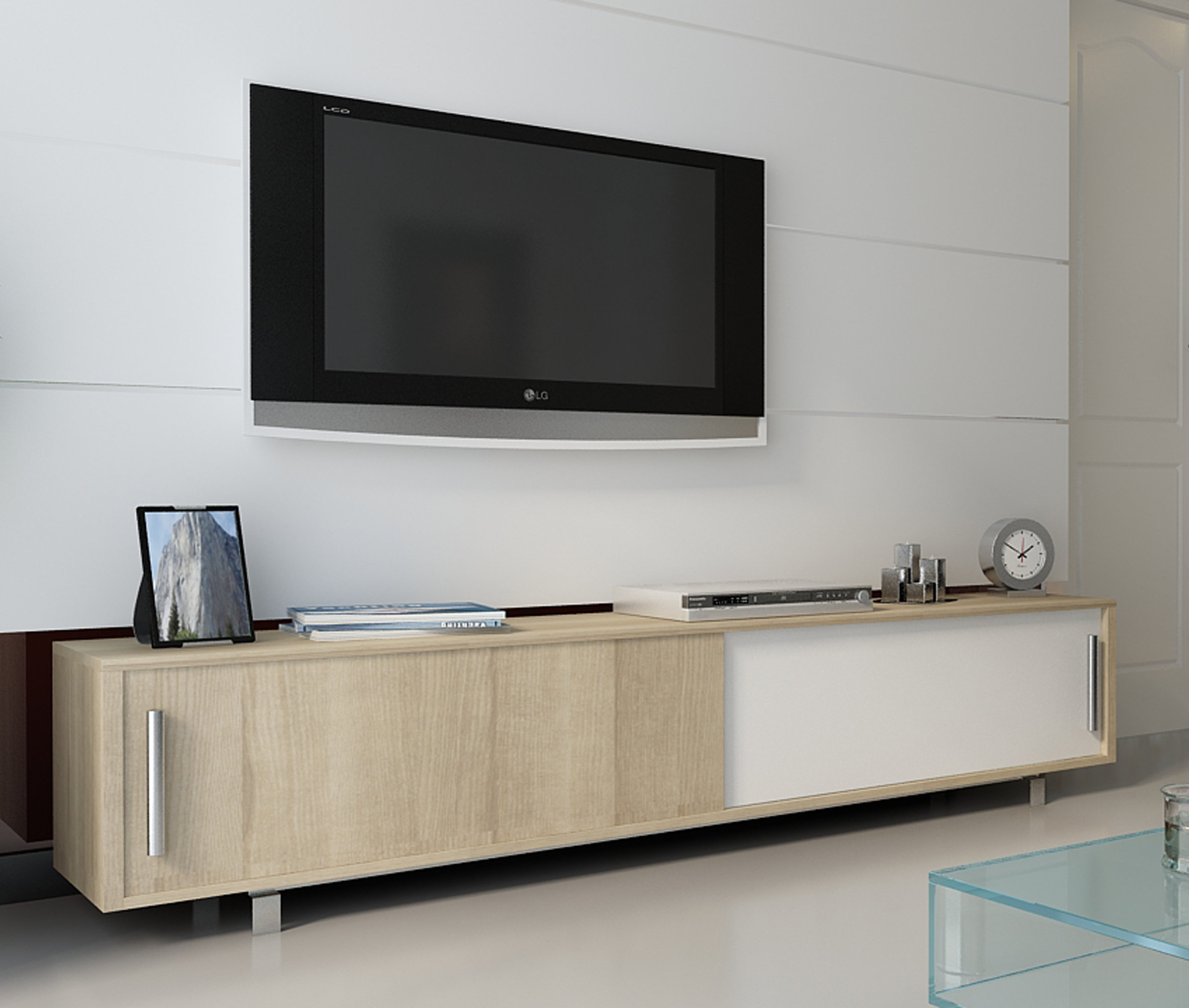 Well Known Unique Tv Stands For Flat Screens With Regard To Modern Tv Stands & Entertainment Centers (View 15 of 20)