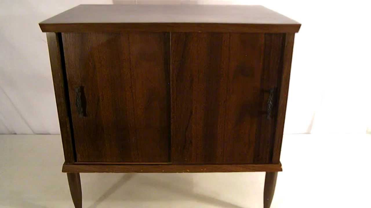 Well Known Vintage 60's Walnut Retro Mid Century Record / Turntable / Tv Stand Inside Turntable Tv Stands (View 13 of 20)
